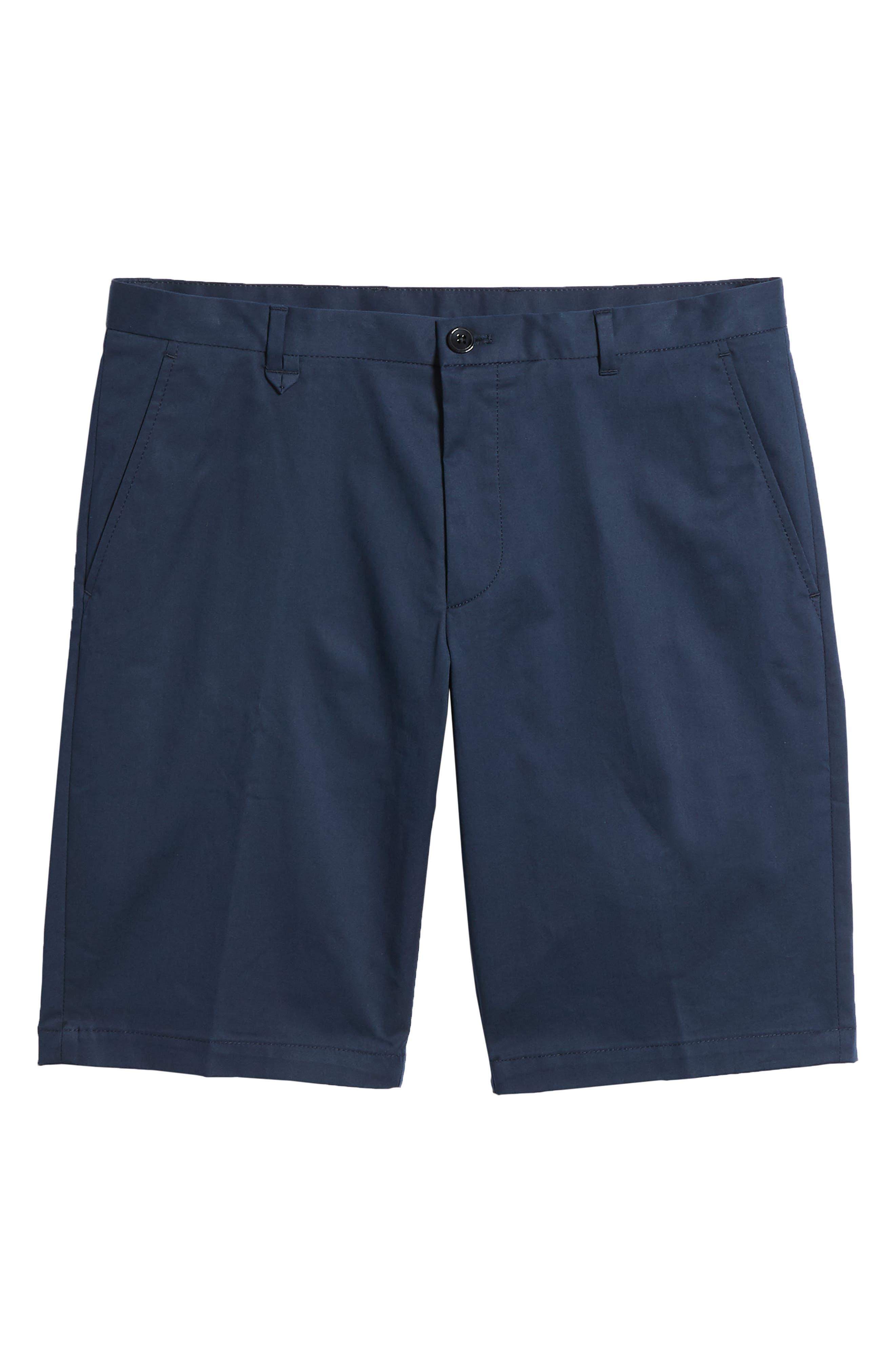 Hano Flat Front Shorts,                             Alternate thumbnail 6, color,                             Blue