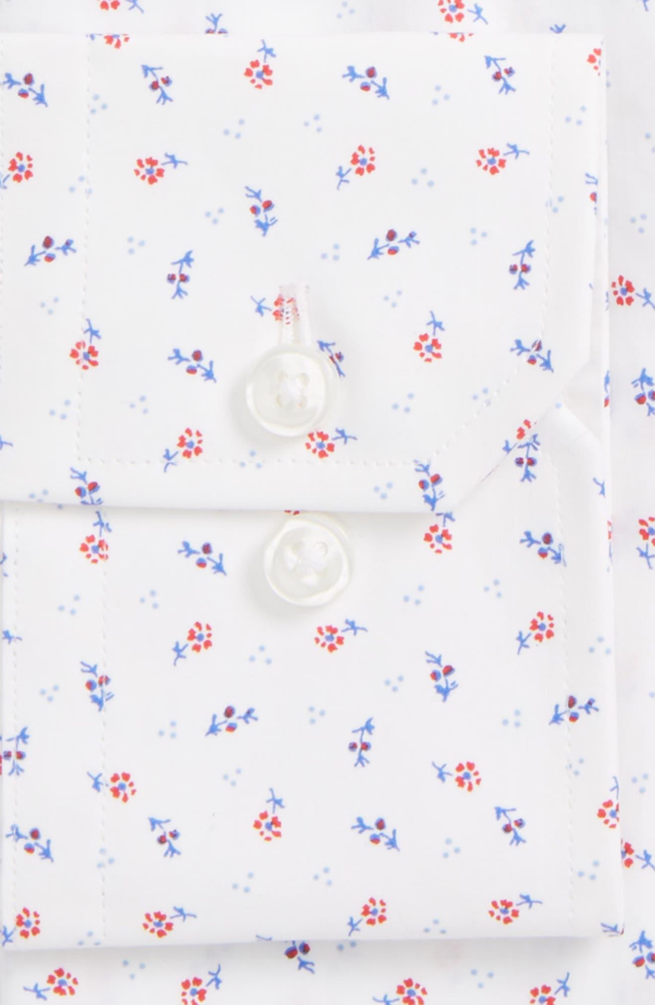 Espirit Trim Fit Floral Dress Shirt,                             Alternate thumbnail 2, color,                             Blue Red Floral