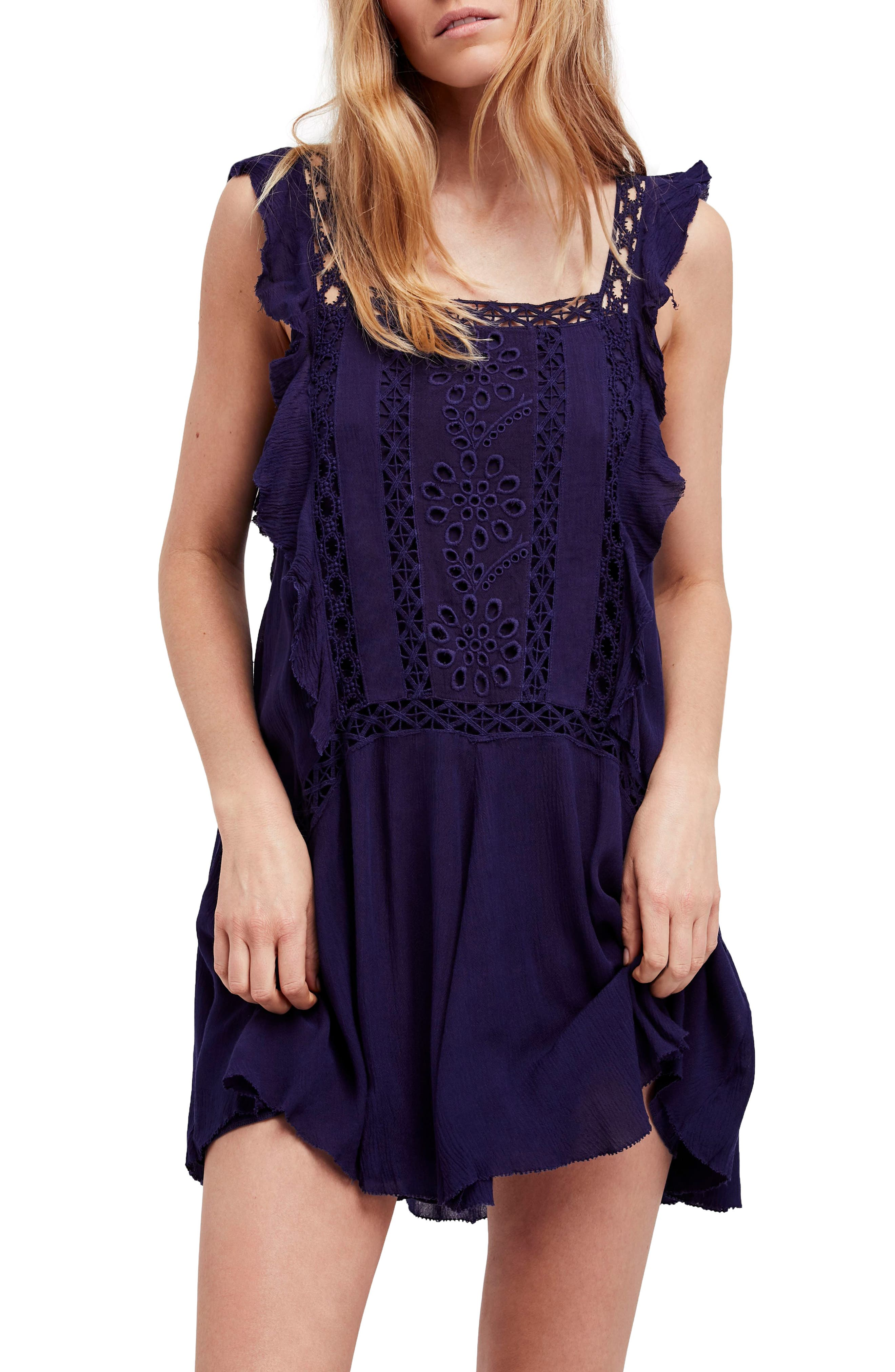 Priscilla Minidress,                         Main,                         color, Navy