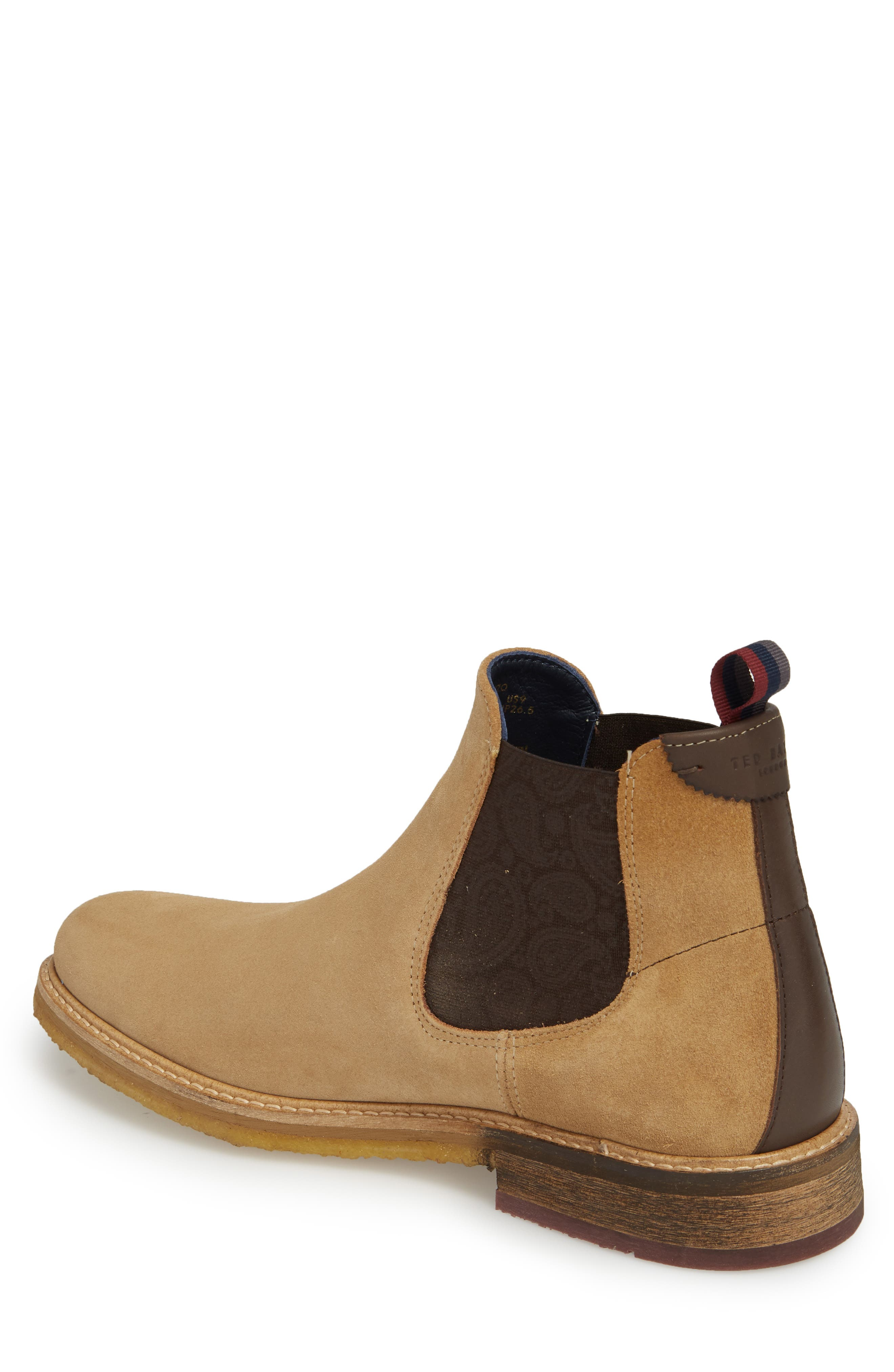 Bronzo Chelsea Boot,                             Alternate thumbnail 2, color,                             Sand Suede