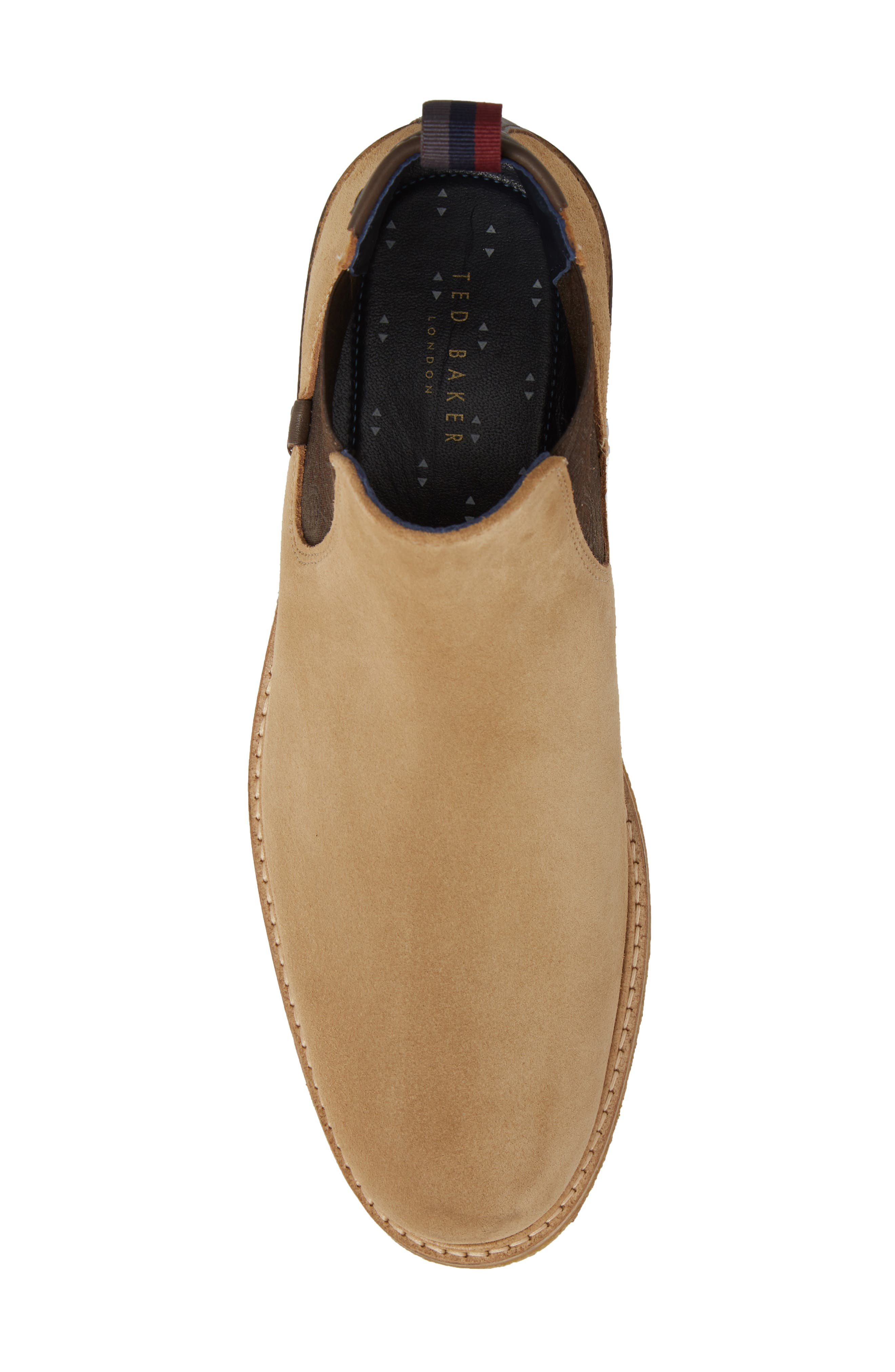 Bronzo Chelsea Boot,                             Alternate thumbnail 4, color,                             Sand Suede