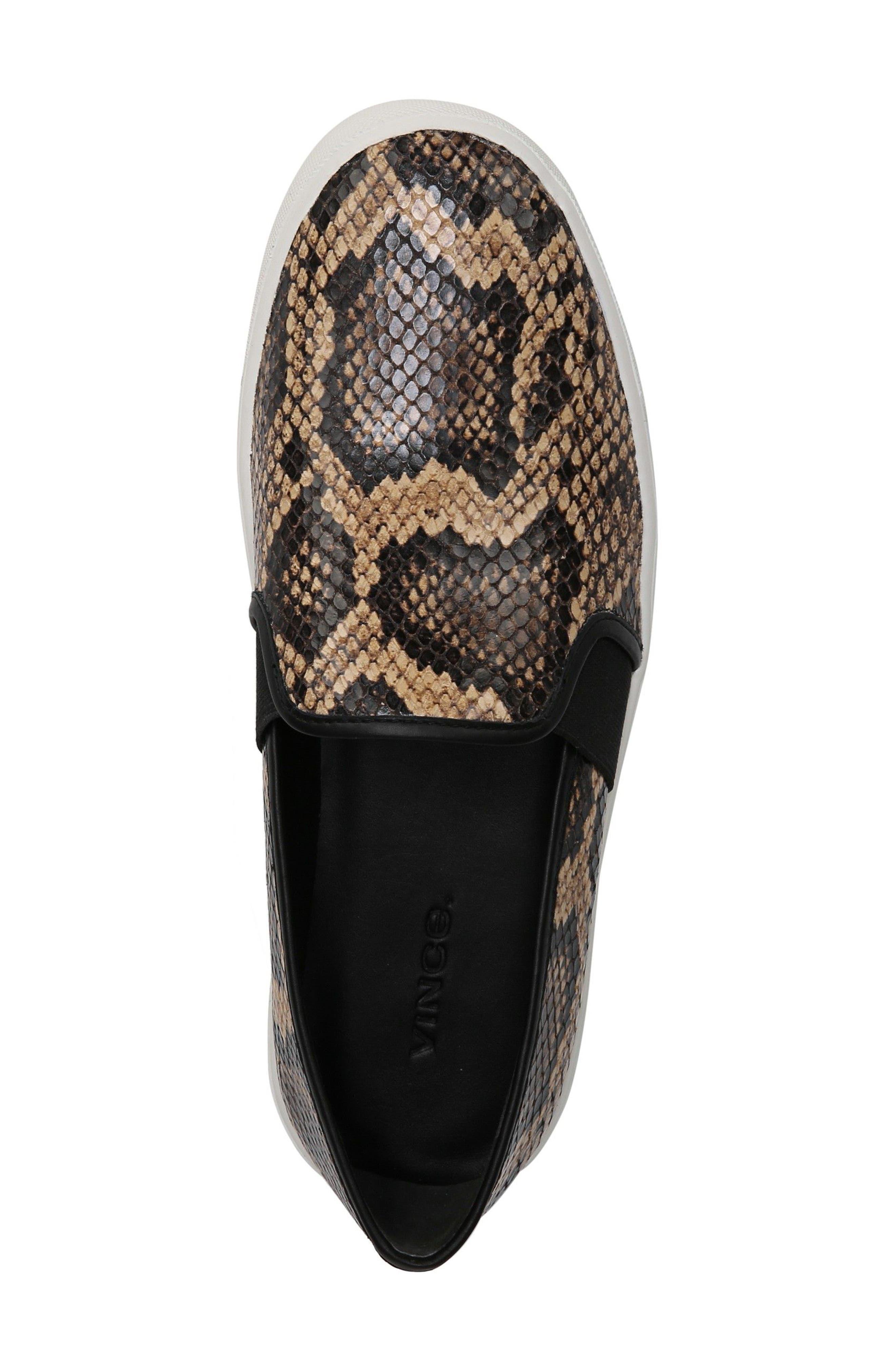 Blair 5 Slip-On Sneaker,                             Alternate thumbnail 4, color,                             Senegal Snake Print