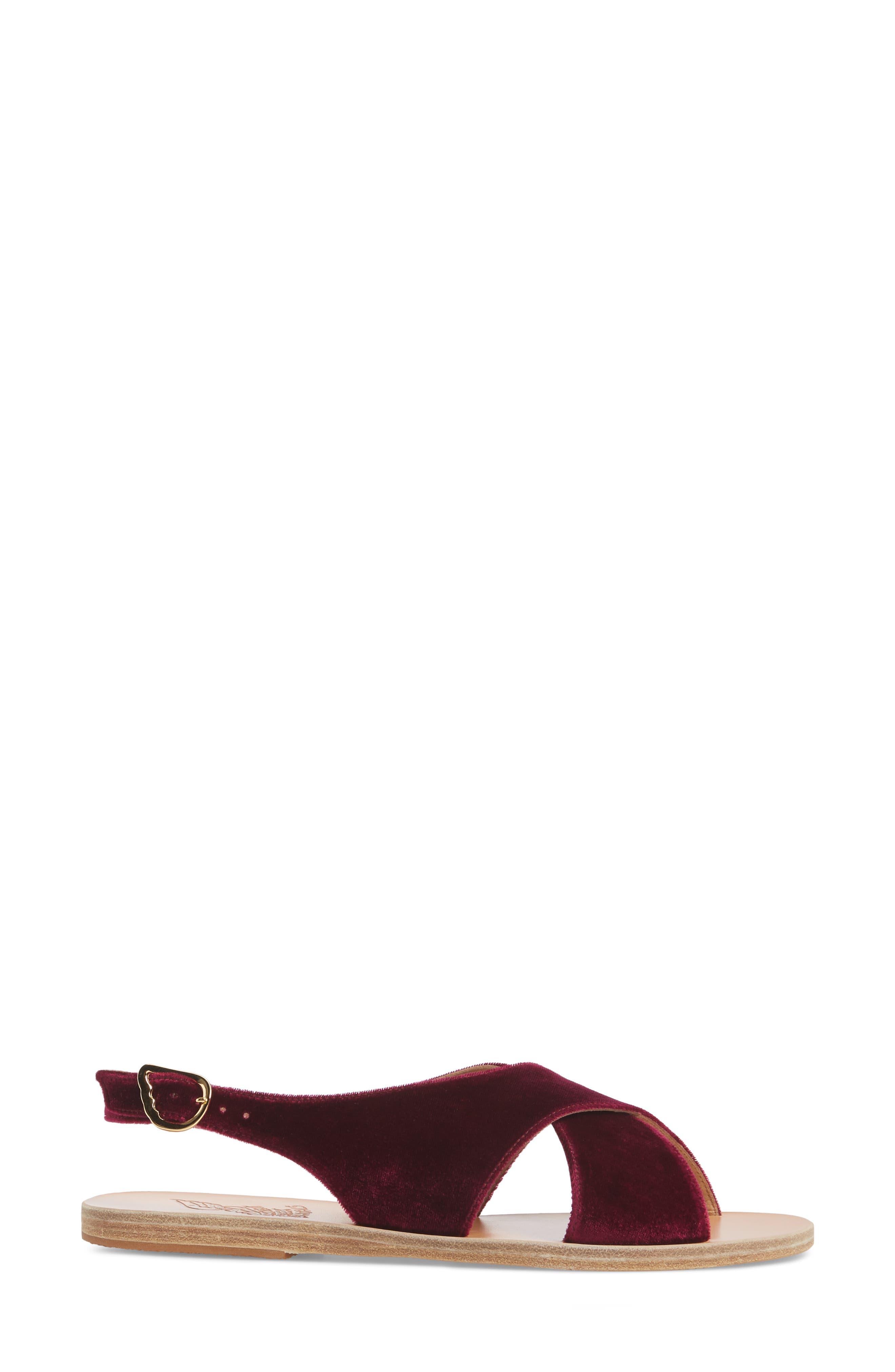 Maria Sandal,                             Alternate thumbnail 3, color,                             Burgundy Velvet
