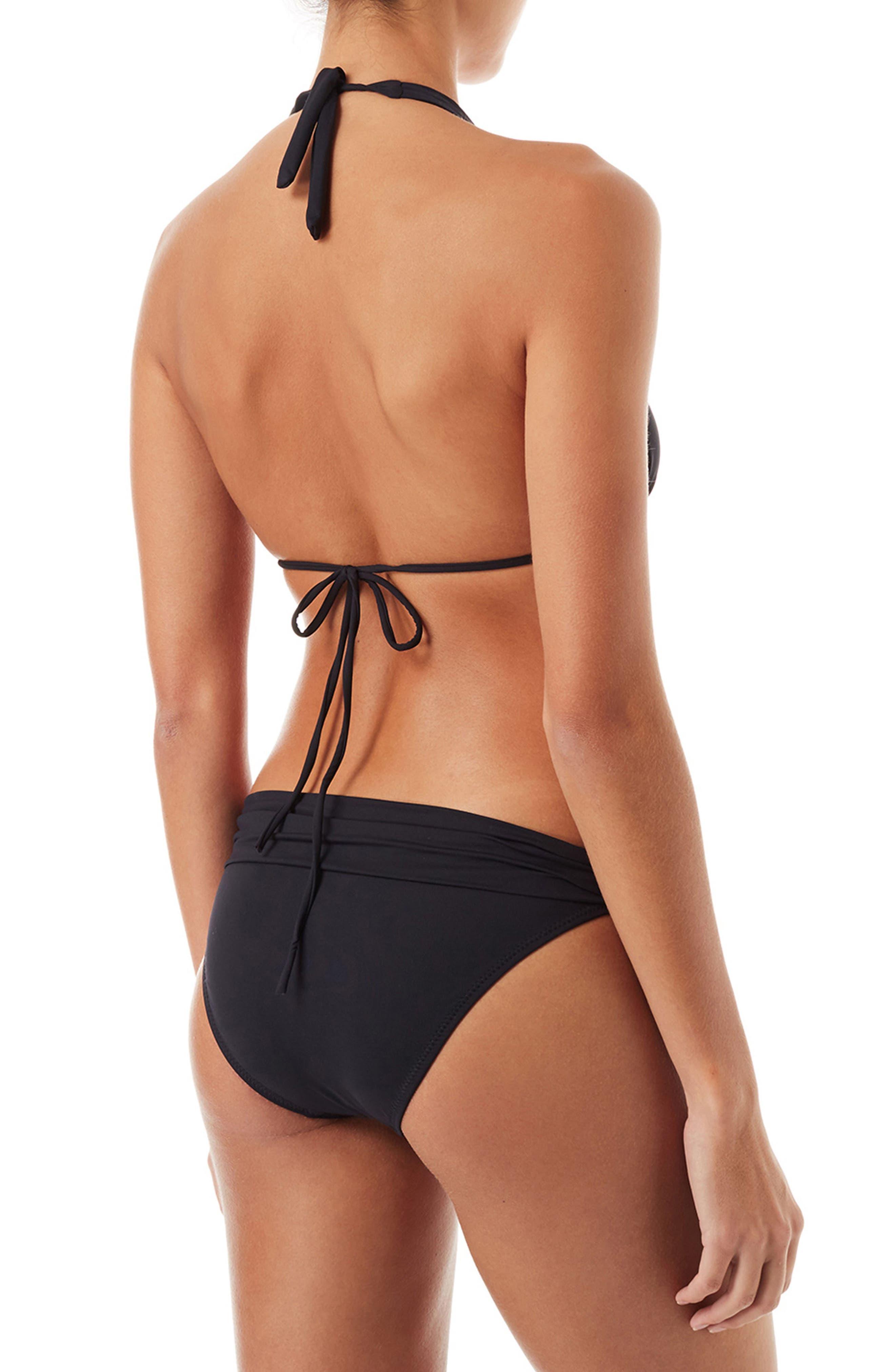 Grenada String Bikini Top,                             Alternate thumbnail 4, color,                             Black