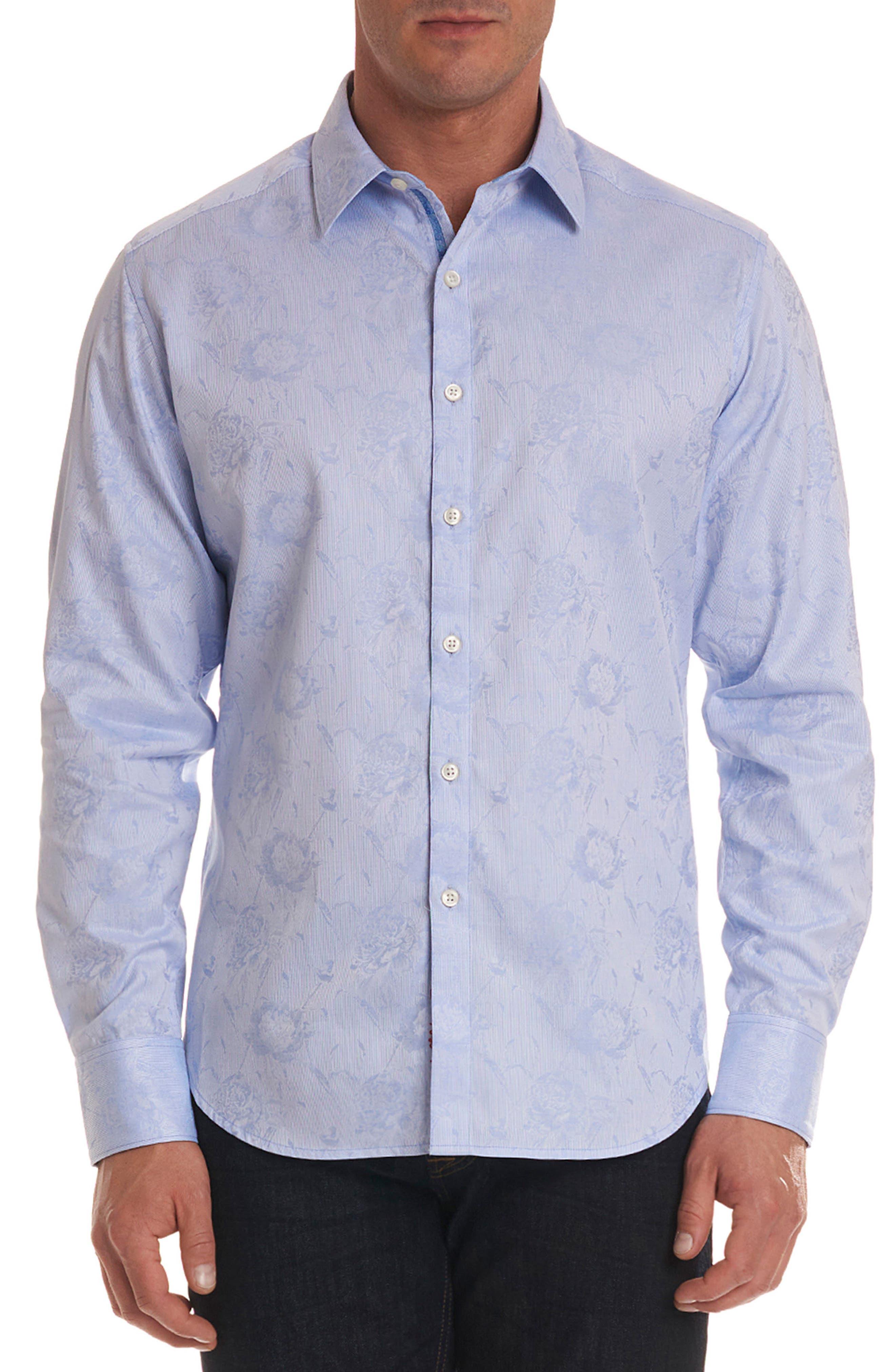 Gilberts Classic Fit Sport Shirt,                             Main thumbnail 1, color,                             Light Blue