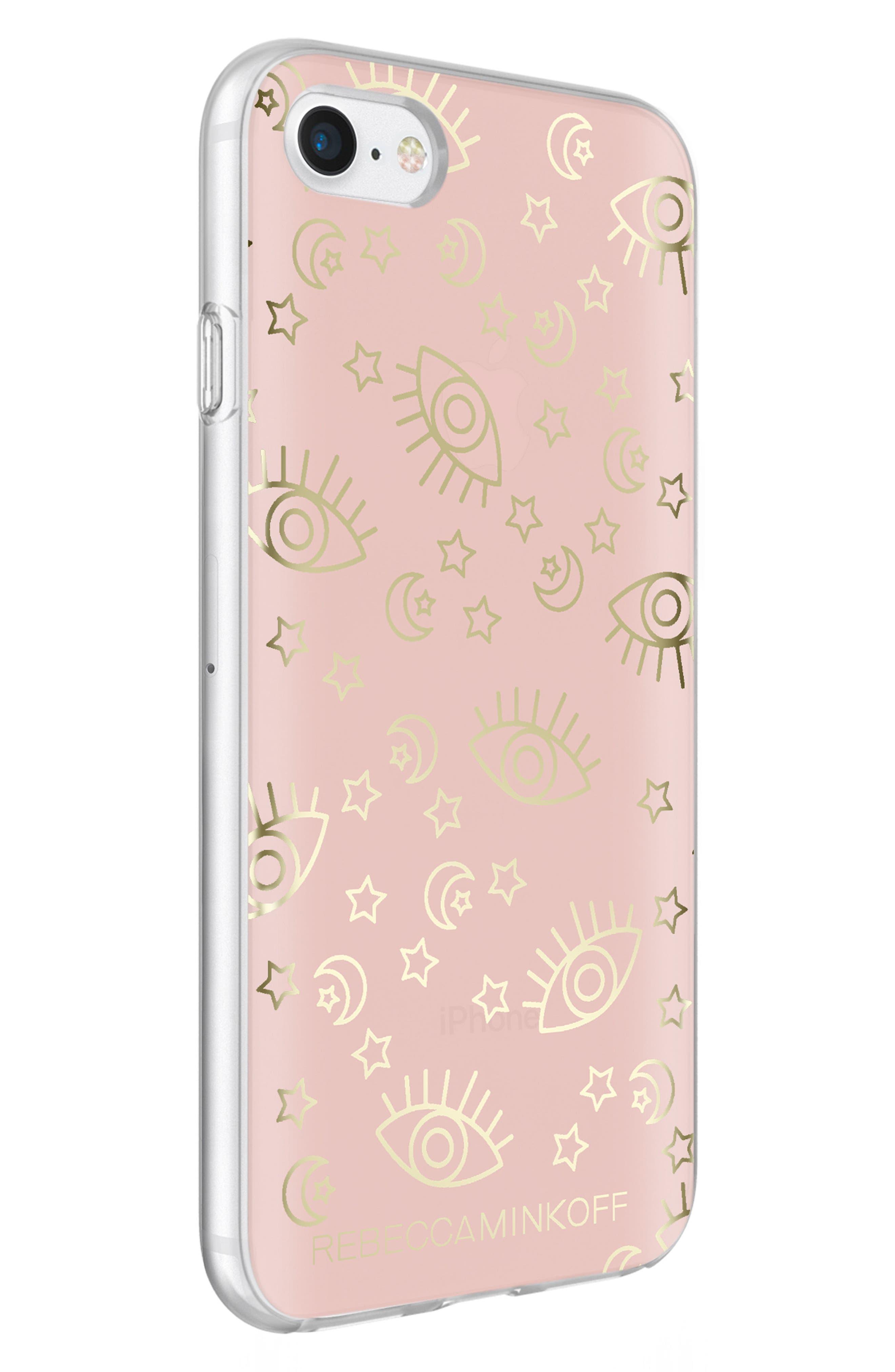 Metallic Galaxy Icon iPhone 7/8 & 7/8 Plus Case,                             Alternate thumbnail 2, color,                             Rose Gold/ Gold Foil