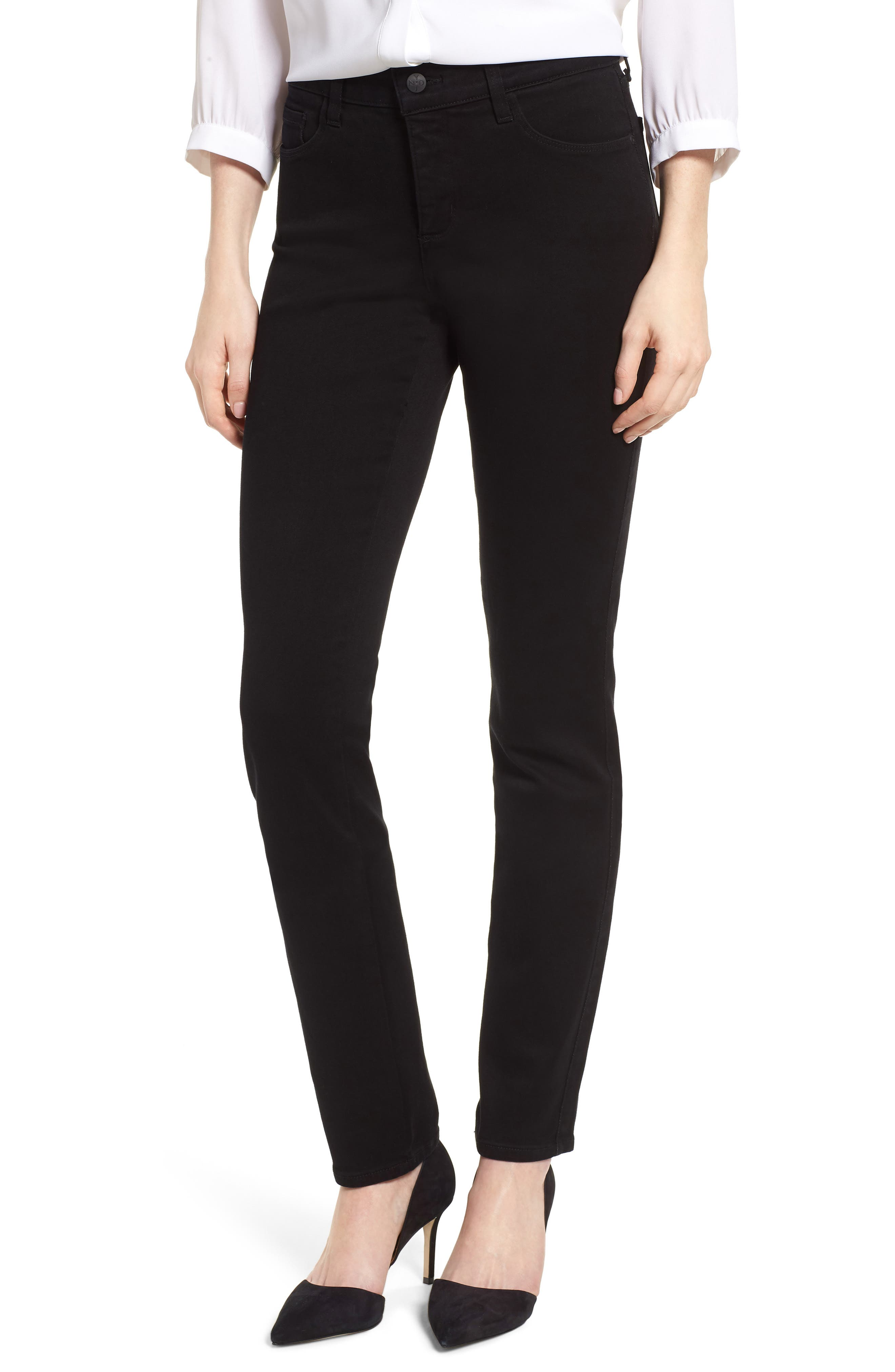 Alina Stretch Skinny Jeans,                             Main thumbnail 1, color,                             Black