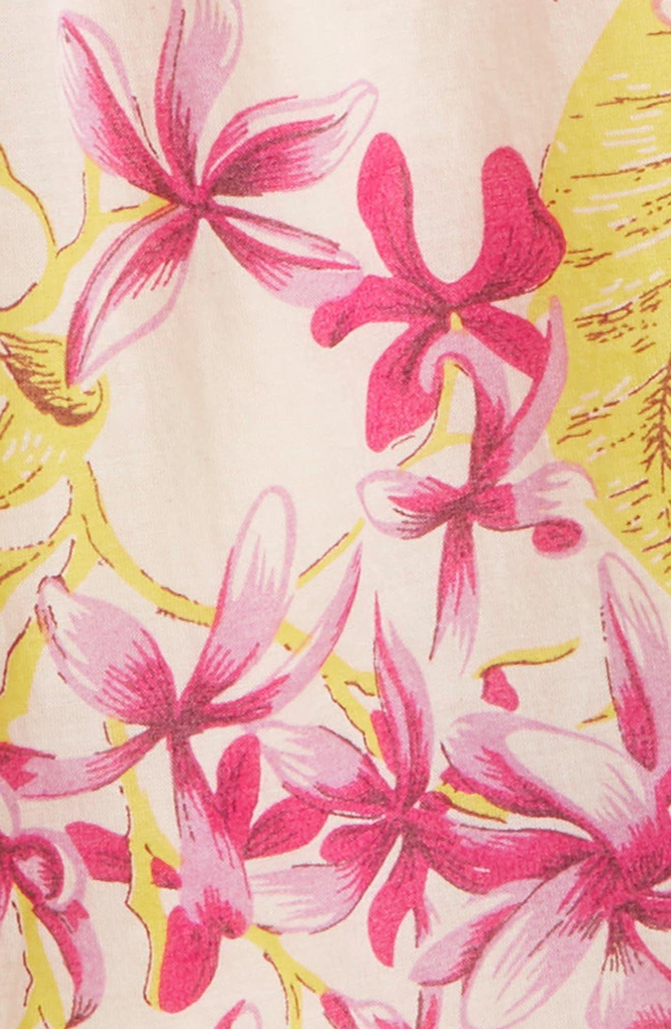 Scotch R'Belle Floral Print Trapeze Top,                             Alternate thumbnail 2, color,                             Pink Print