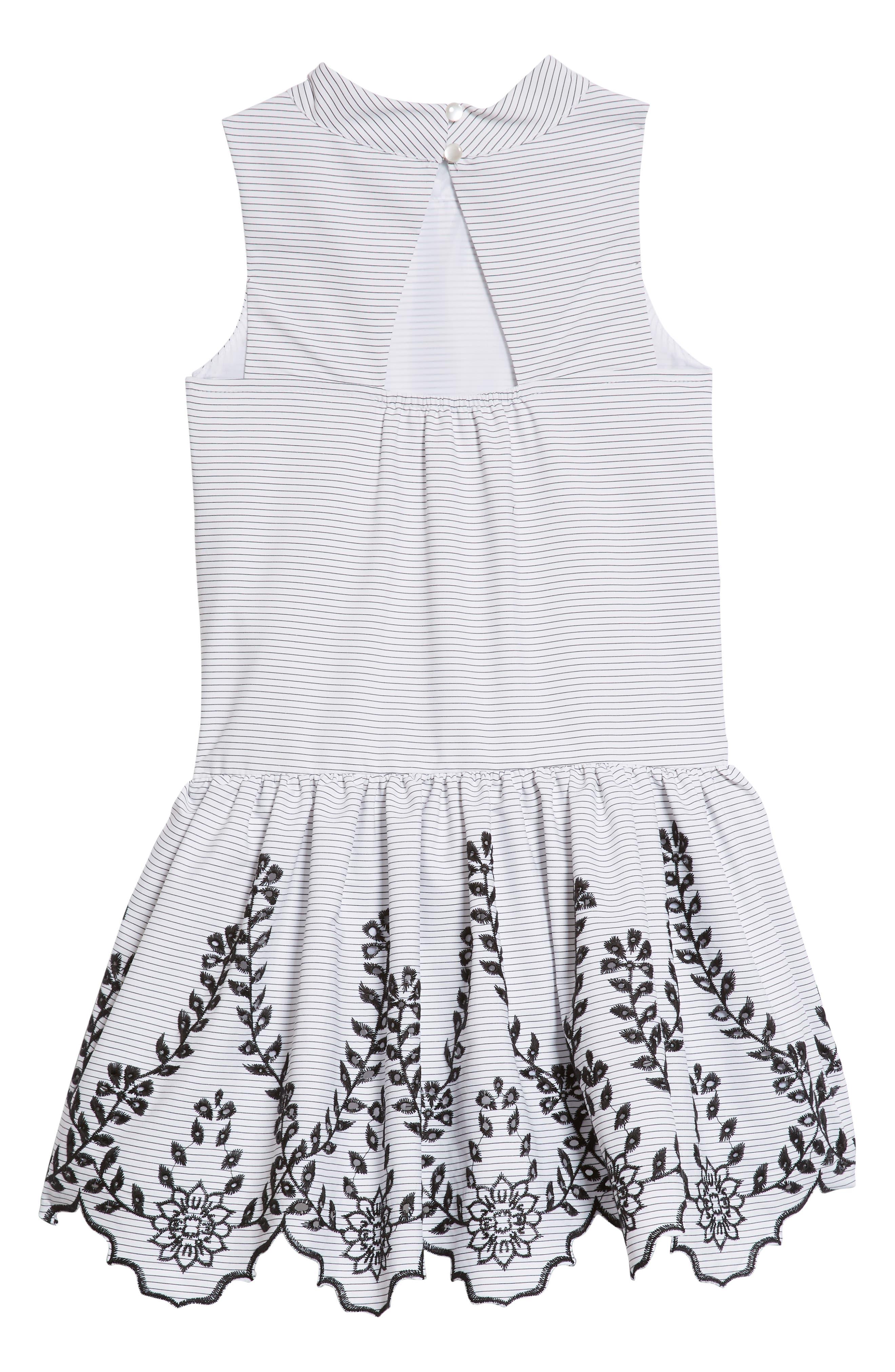 Drop Waist Party Dress,                             Alternate thumbnail 2, color,                             White
