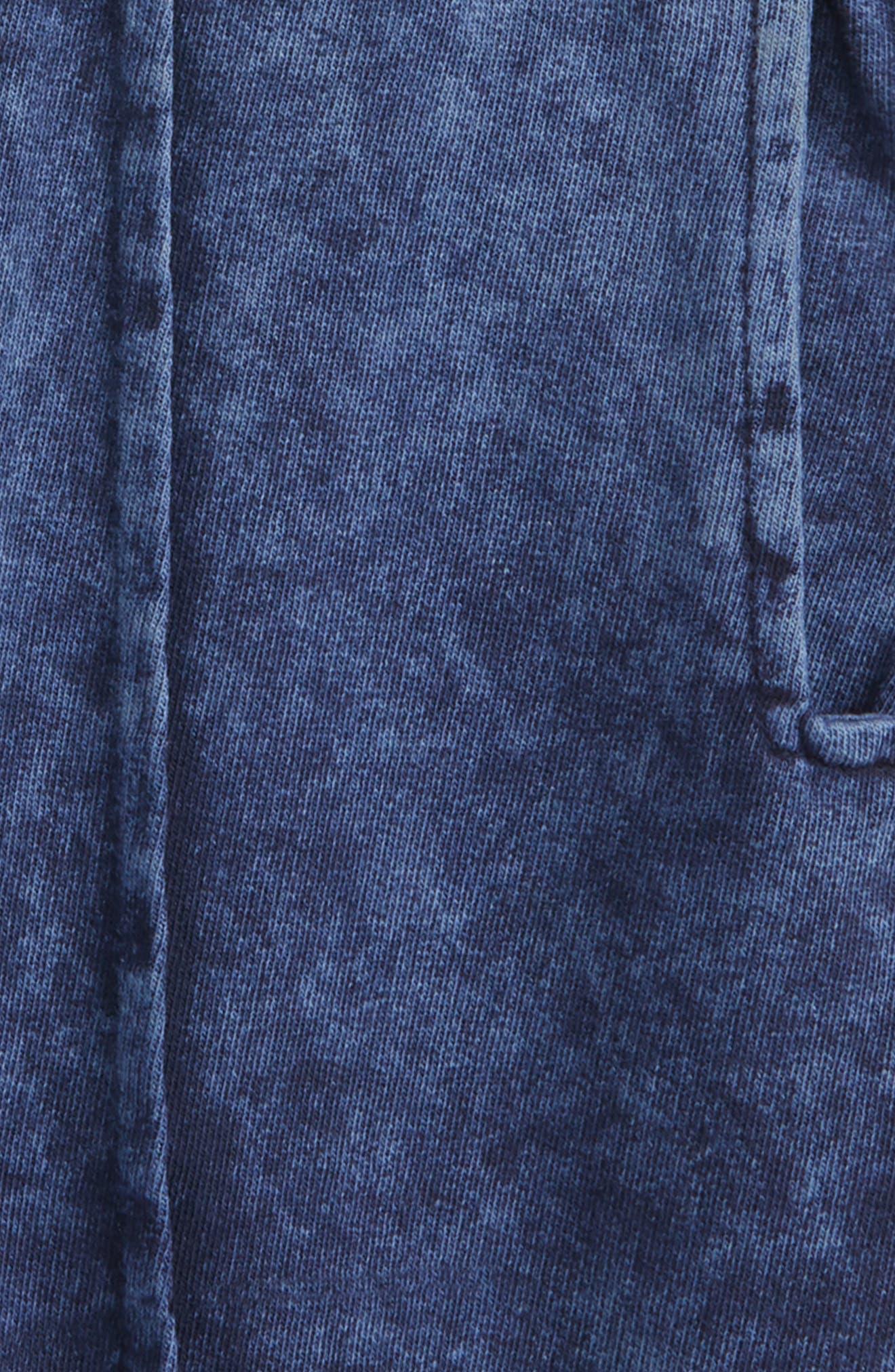 Acid Wash Pull-On Denim Shorts,                             Alternate thumbnail 2, color,                             Navy