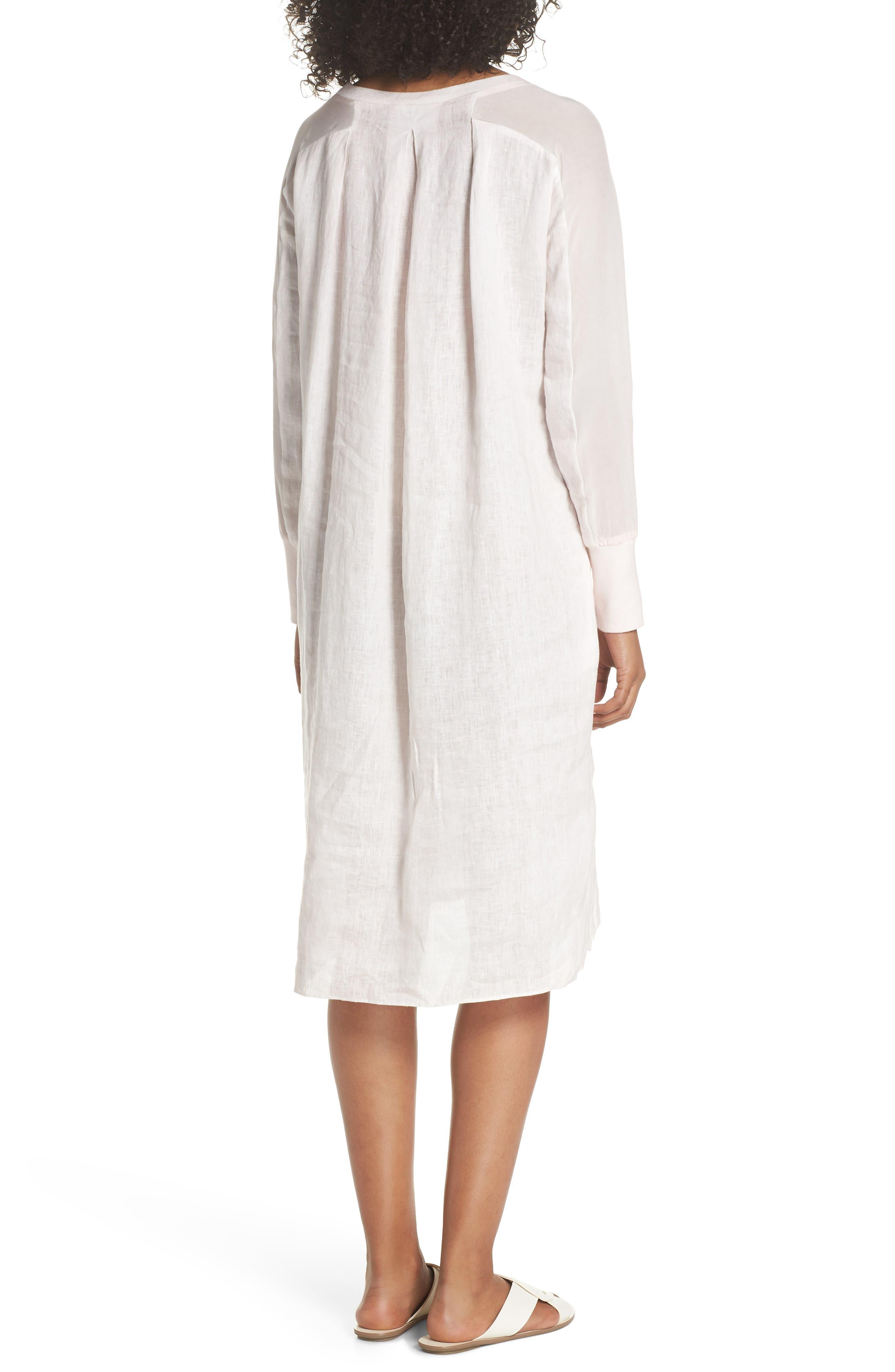 Rata Linen Shift Dress,                             Alternate thumbnail 2, color,                             Light Pink
