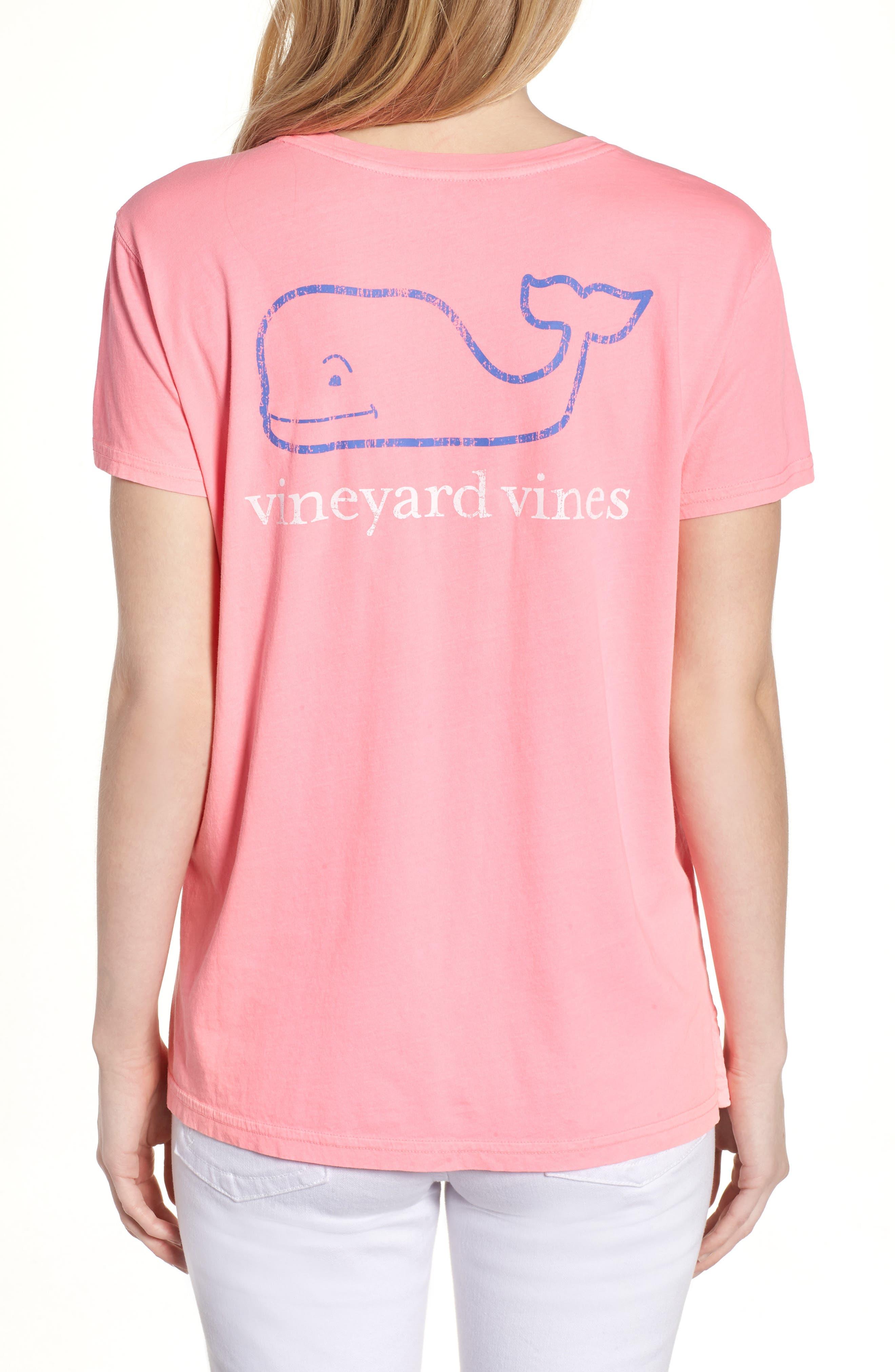 Vintage Whale Tee,                             Alternate thumbnail 2, color,                             Malibu Pink