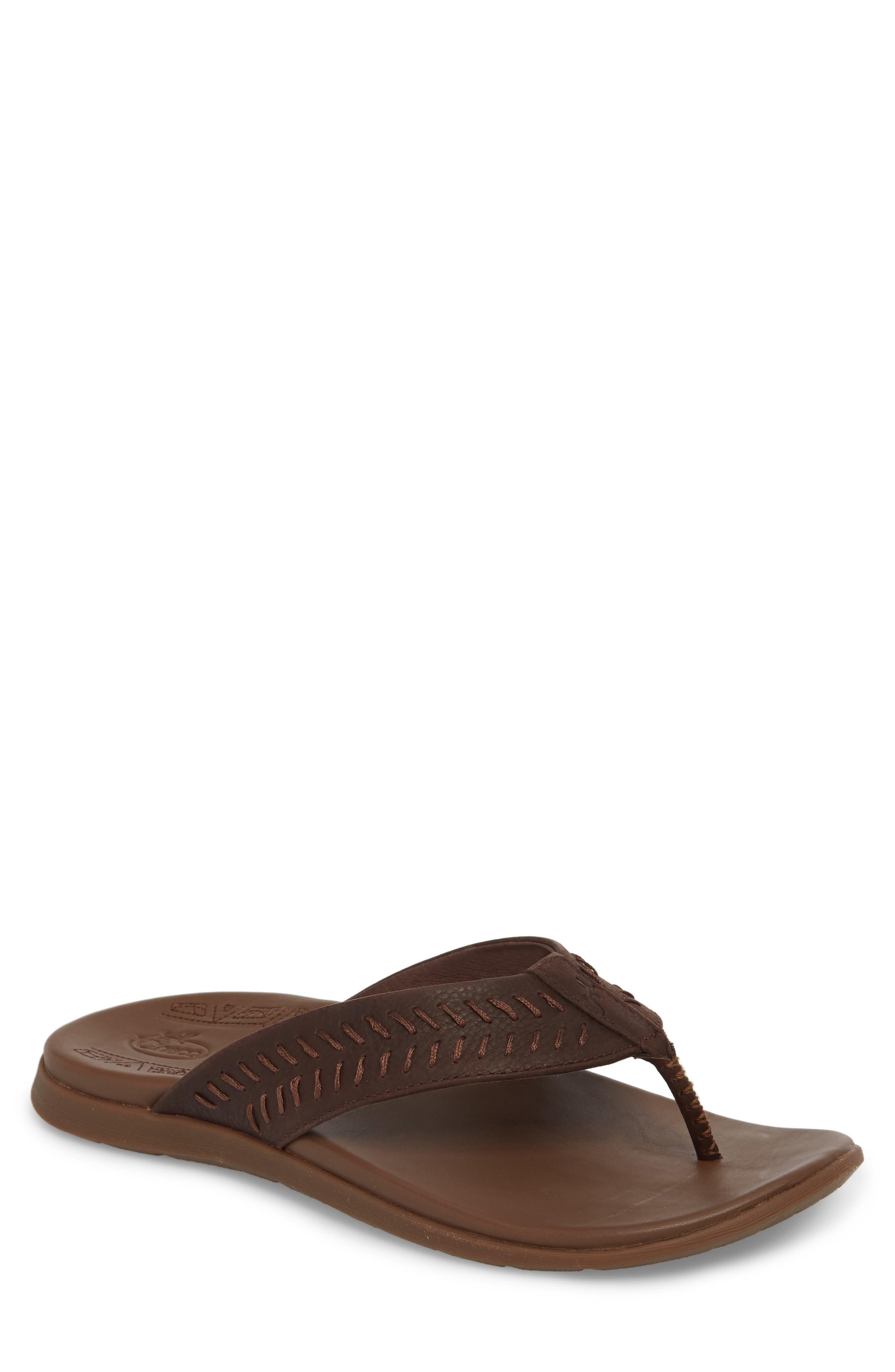 Jackson Flip Flop,                             Main thumbnail 1, color,                             Java Leather