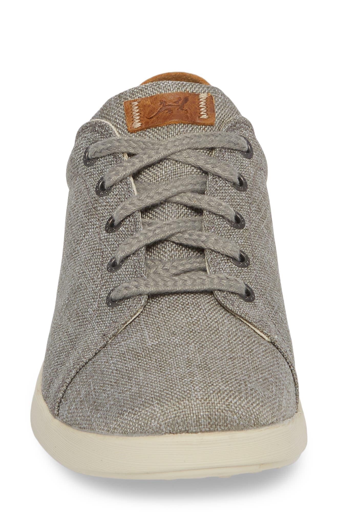 Ionia Sneaker,                             Alternate thumbnail 4, color,                             Gray Canvas