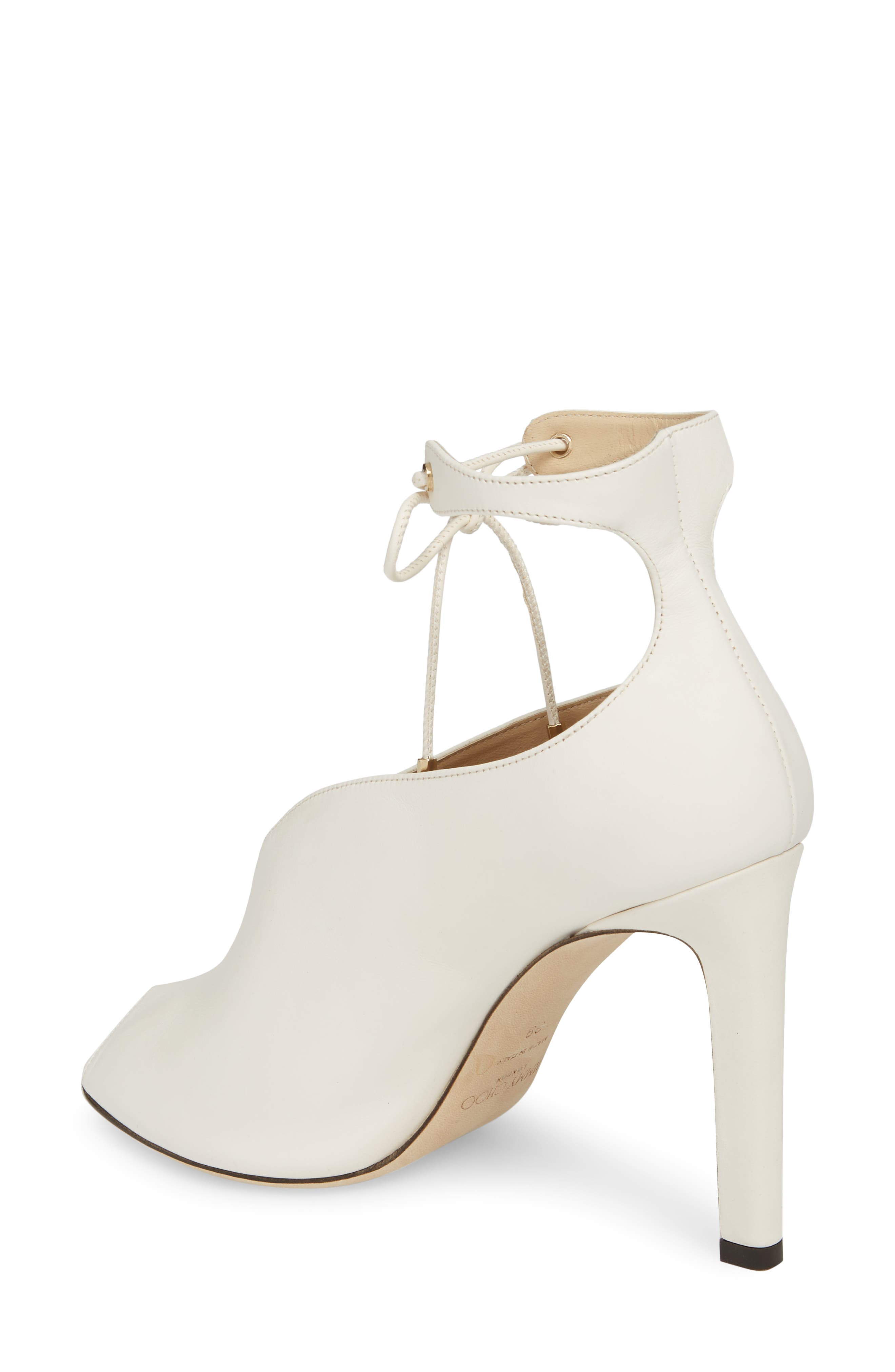 Sayra Ankle Tie Bootie,                             Alternate thumbnail 2, color,                             Chalk