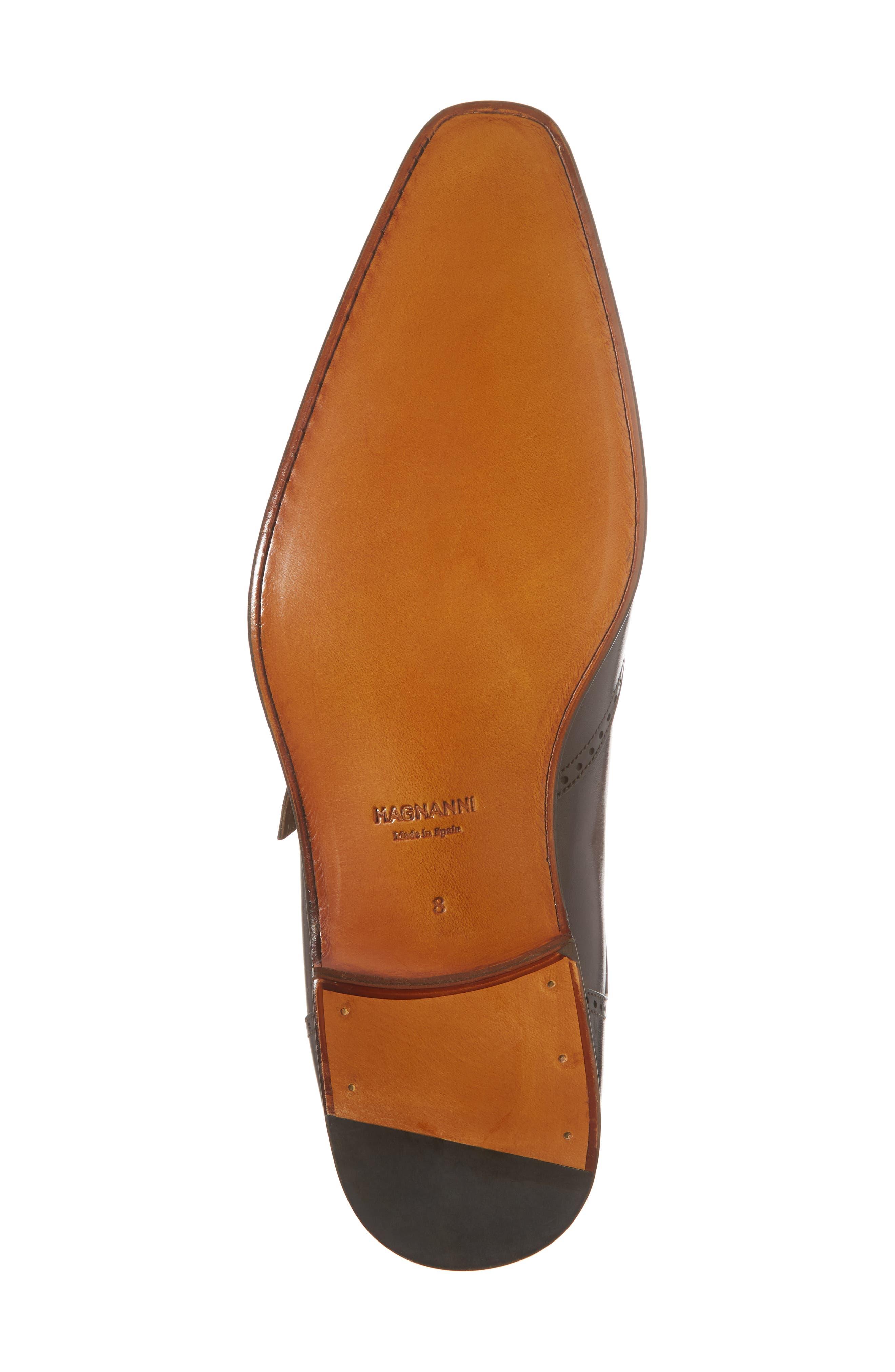 Dixon Wingtip Double Strap Monk Shoe,                             Alternate thumbnail 6, color,                             Tobacco Leather