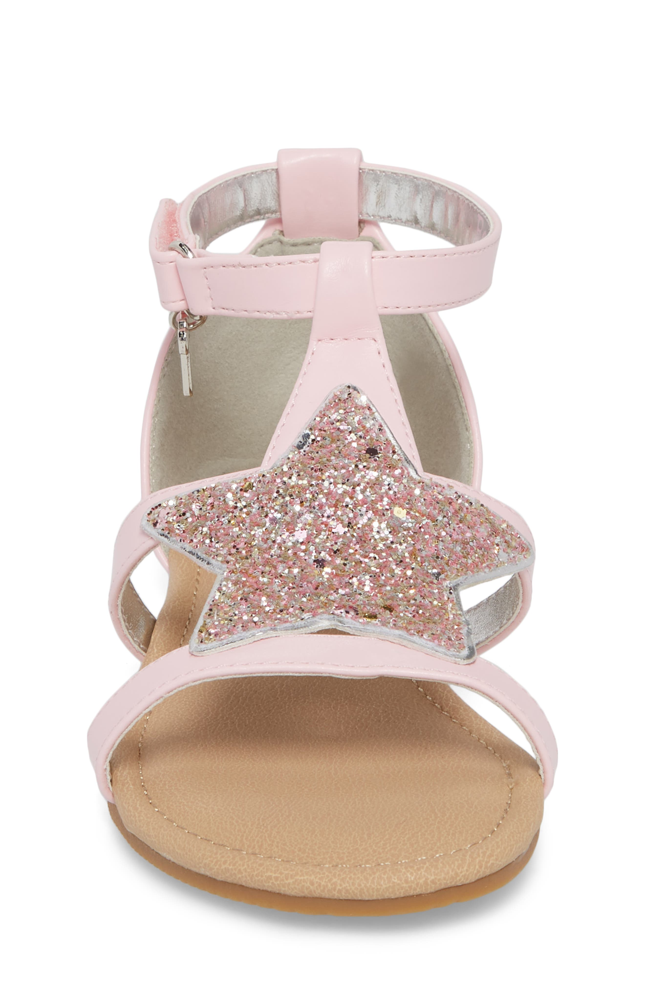 Emerson Glitter Star Sandal,                             Alternate thumbnail 4, color,                             Orchid Pink