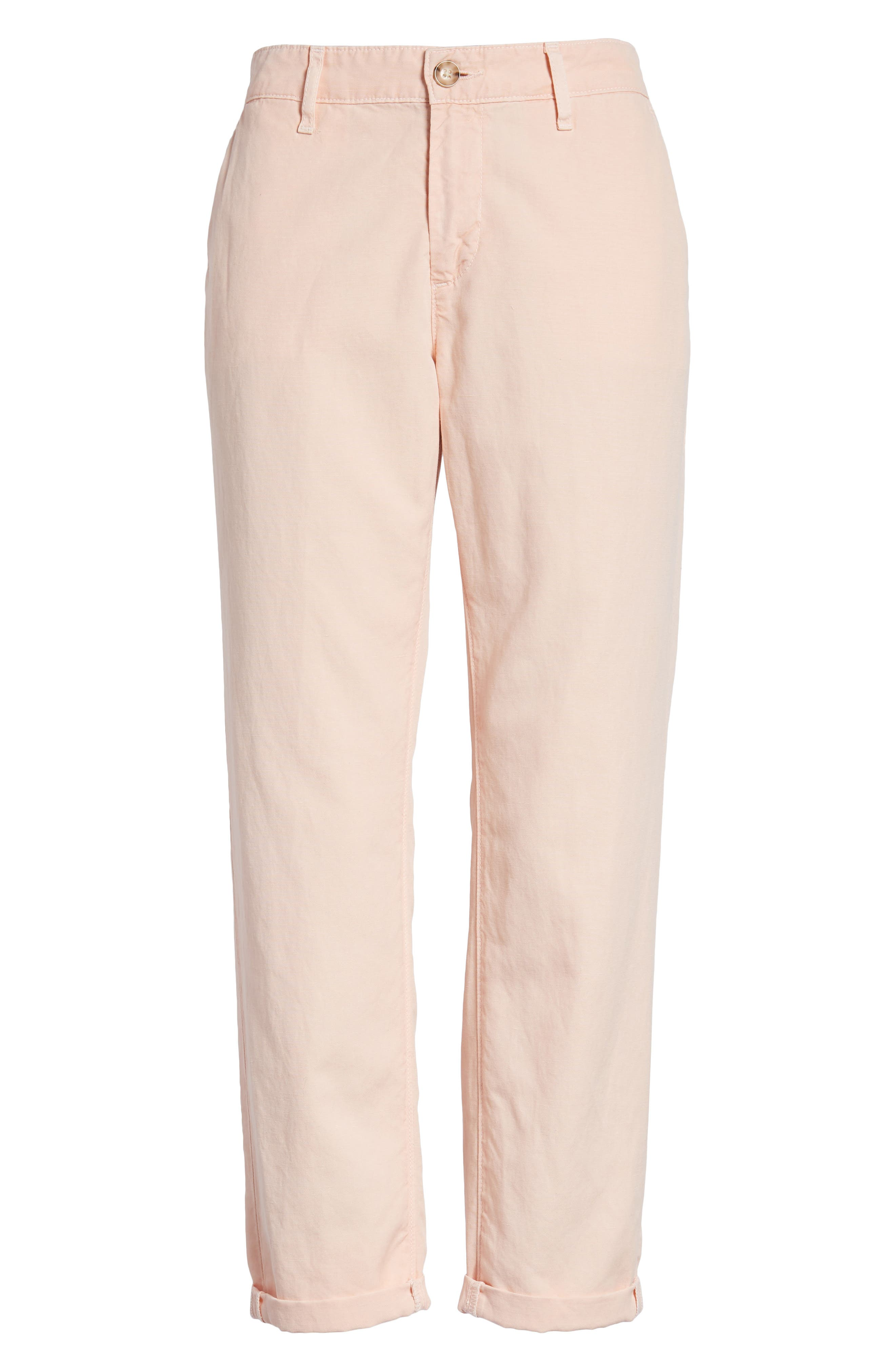 Caden Crop Twill Trousers,                             Alternate thumbnail 3, color,                             Sulfur Prism Pink