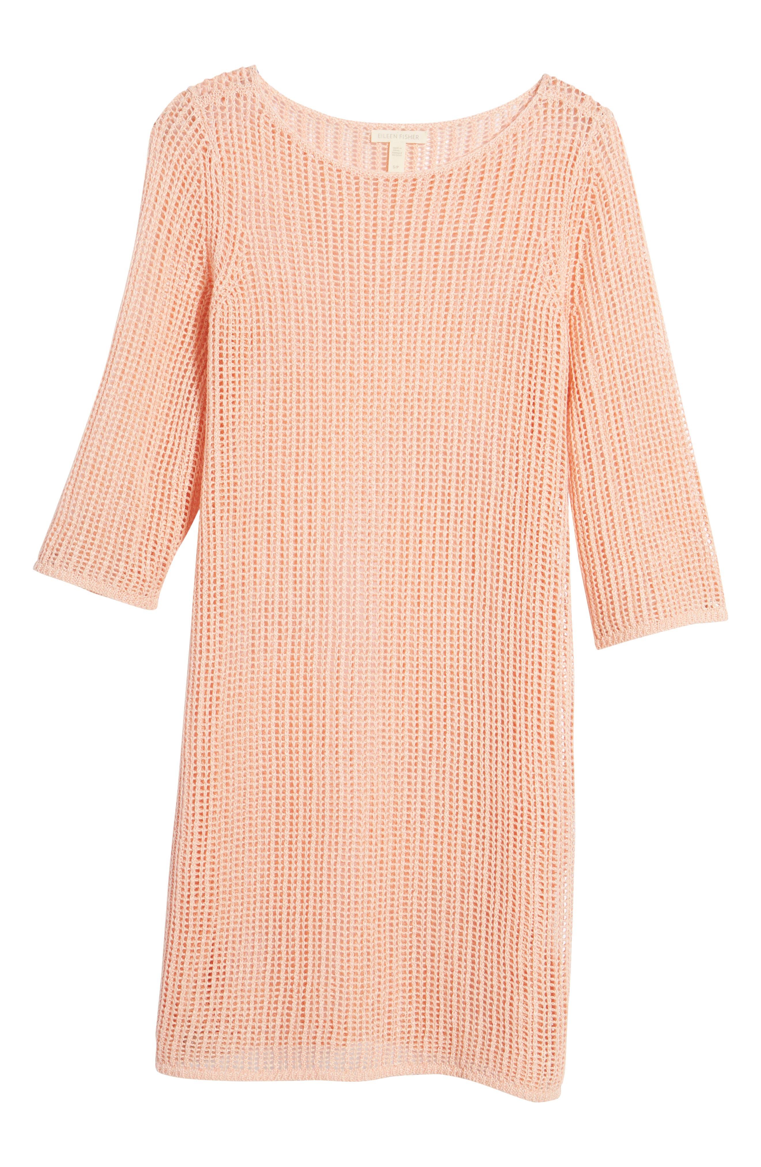 Organic Linen Tunic,                             Alternate thumbnail 7, color,                             Petal