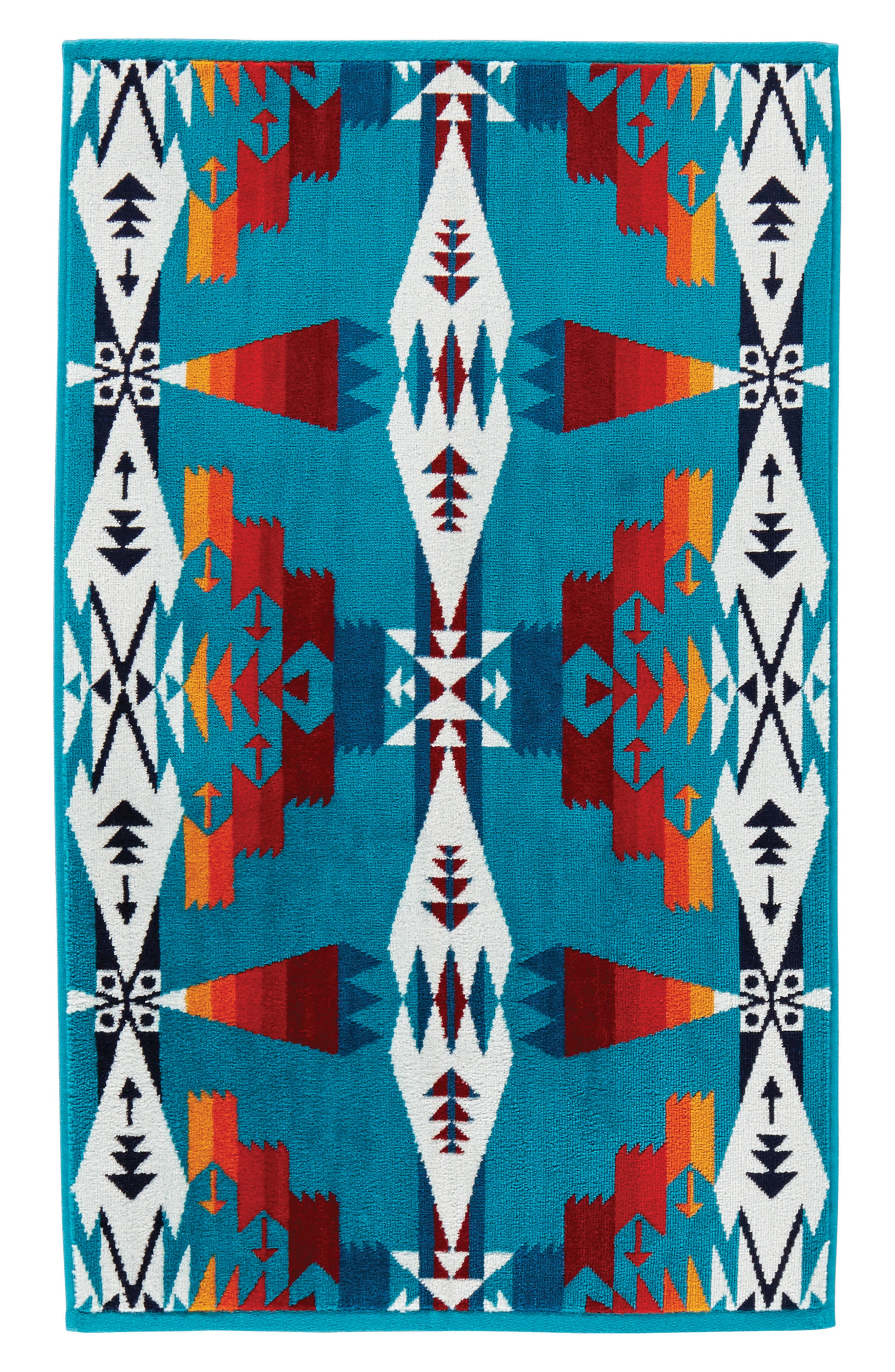 Tucson Hand Towel,                             Main thumbnail 1, color,                             Tucson Turquoise
