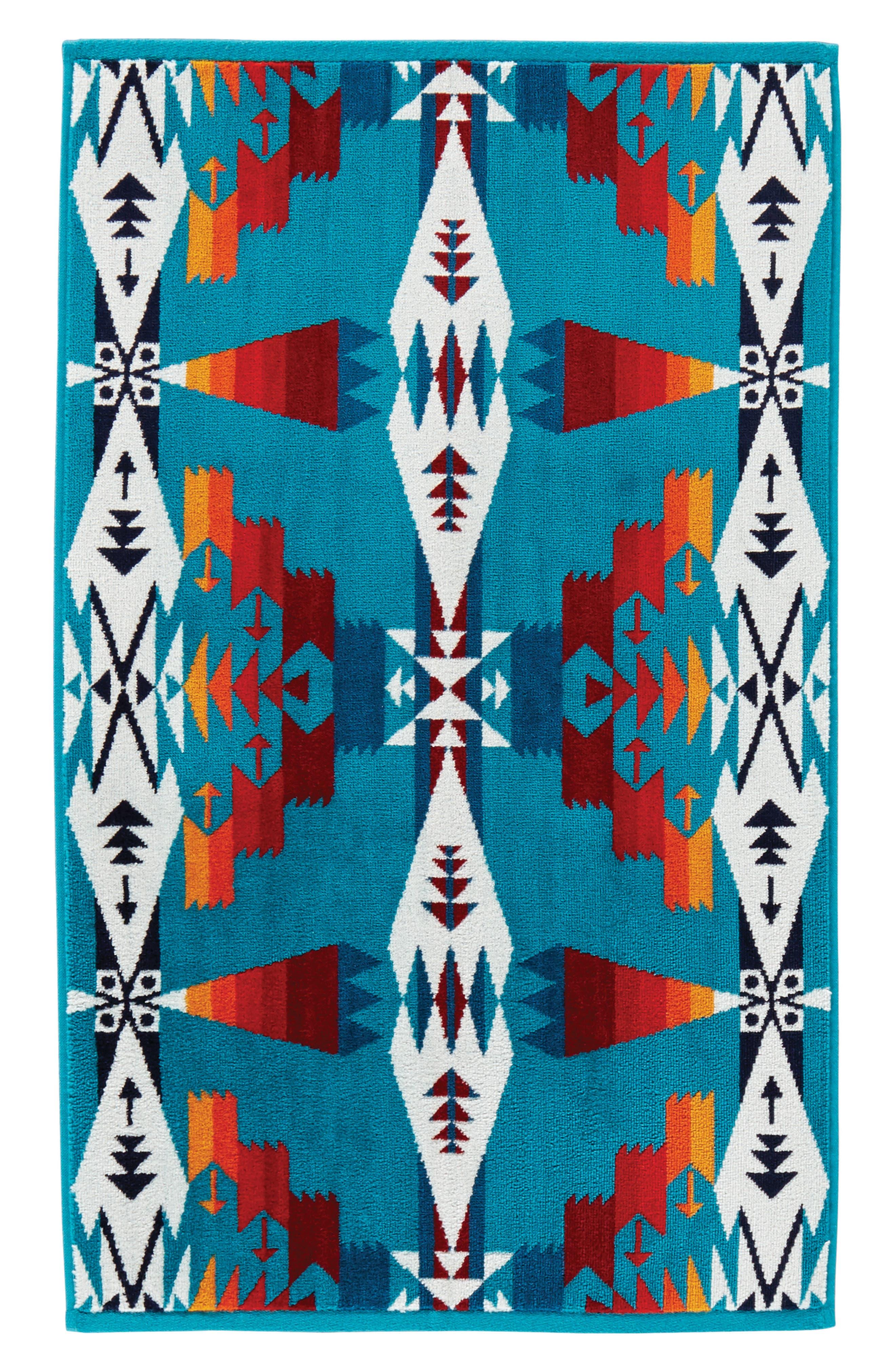 Tucson Hand Towel,                         Main,                         color, Tucson Turquoise