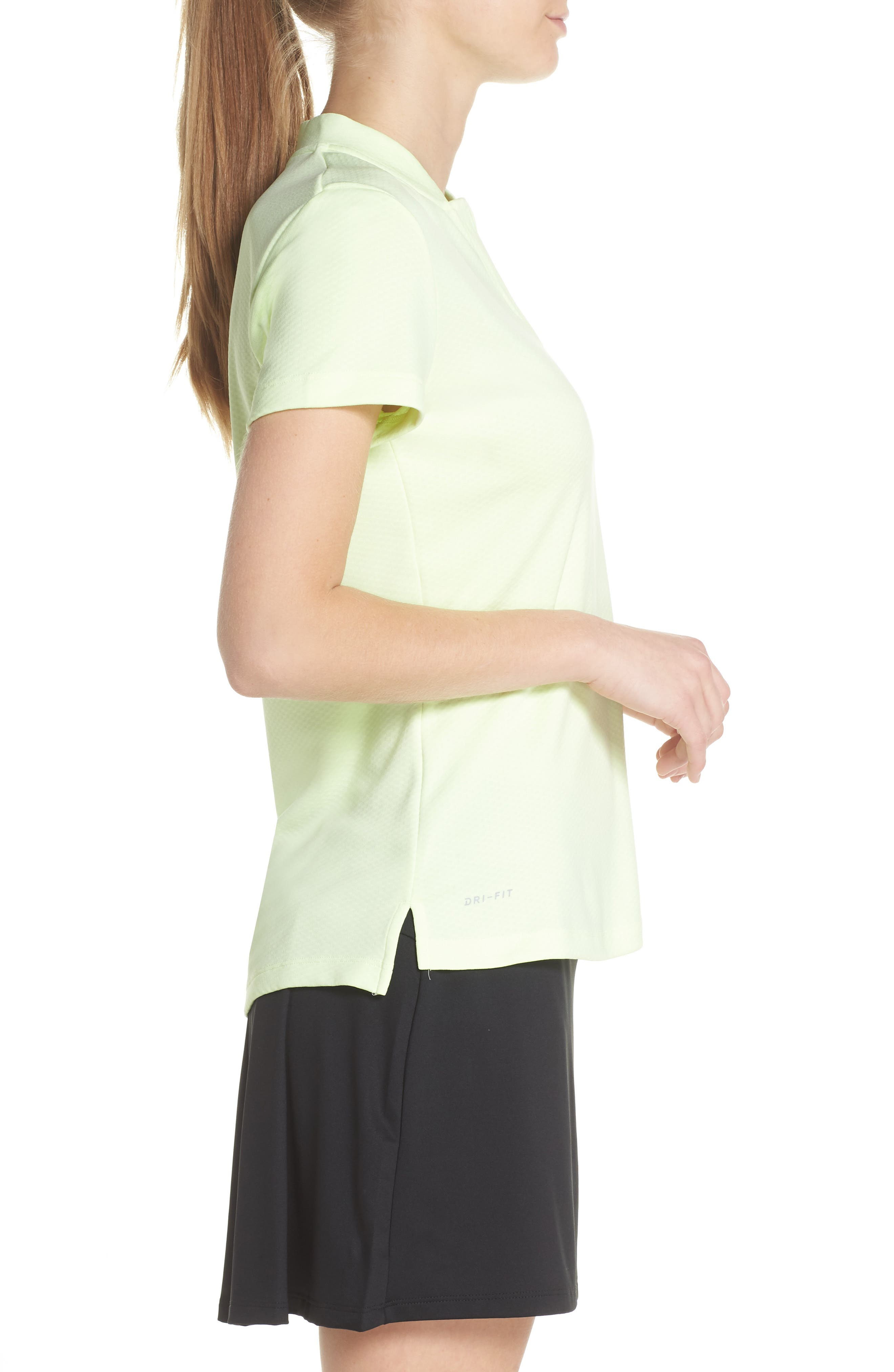 Dry Gold Polo,                             Alternate thumbnail 3, color,                             Barely Volt/ Silver
