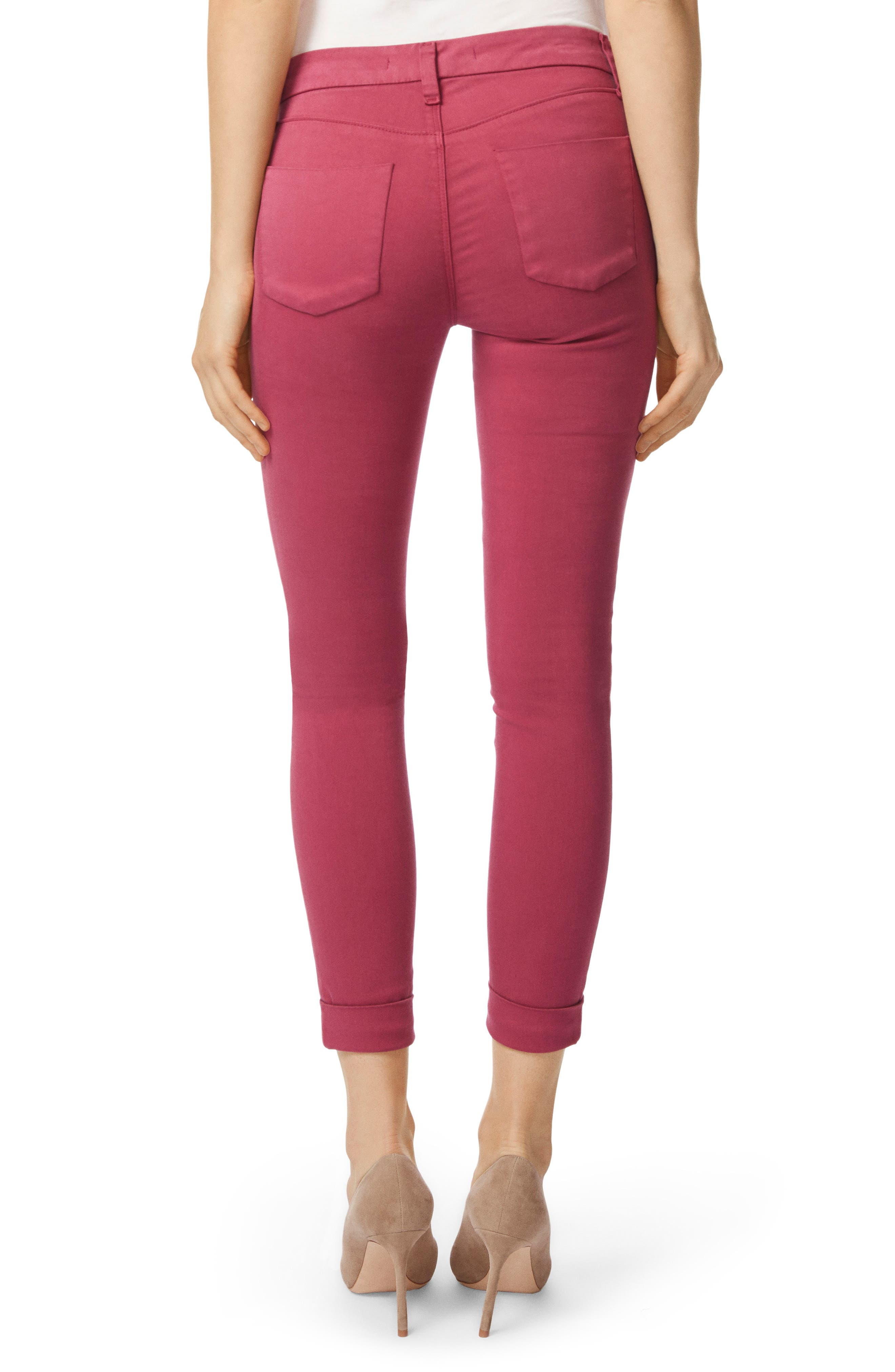 Anja Cuff Crop Jeans,                             Alternate thumbnail 2, color,                             Deep Plum