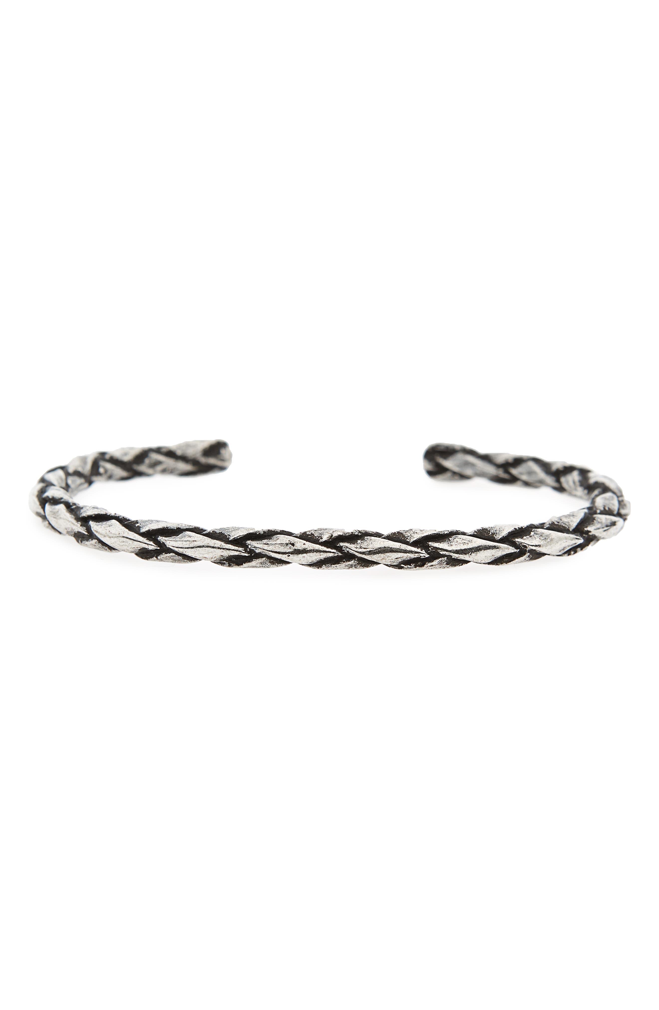 Silver Cuff Bracelet,                             Main thumbnail 1, color,                             Silver