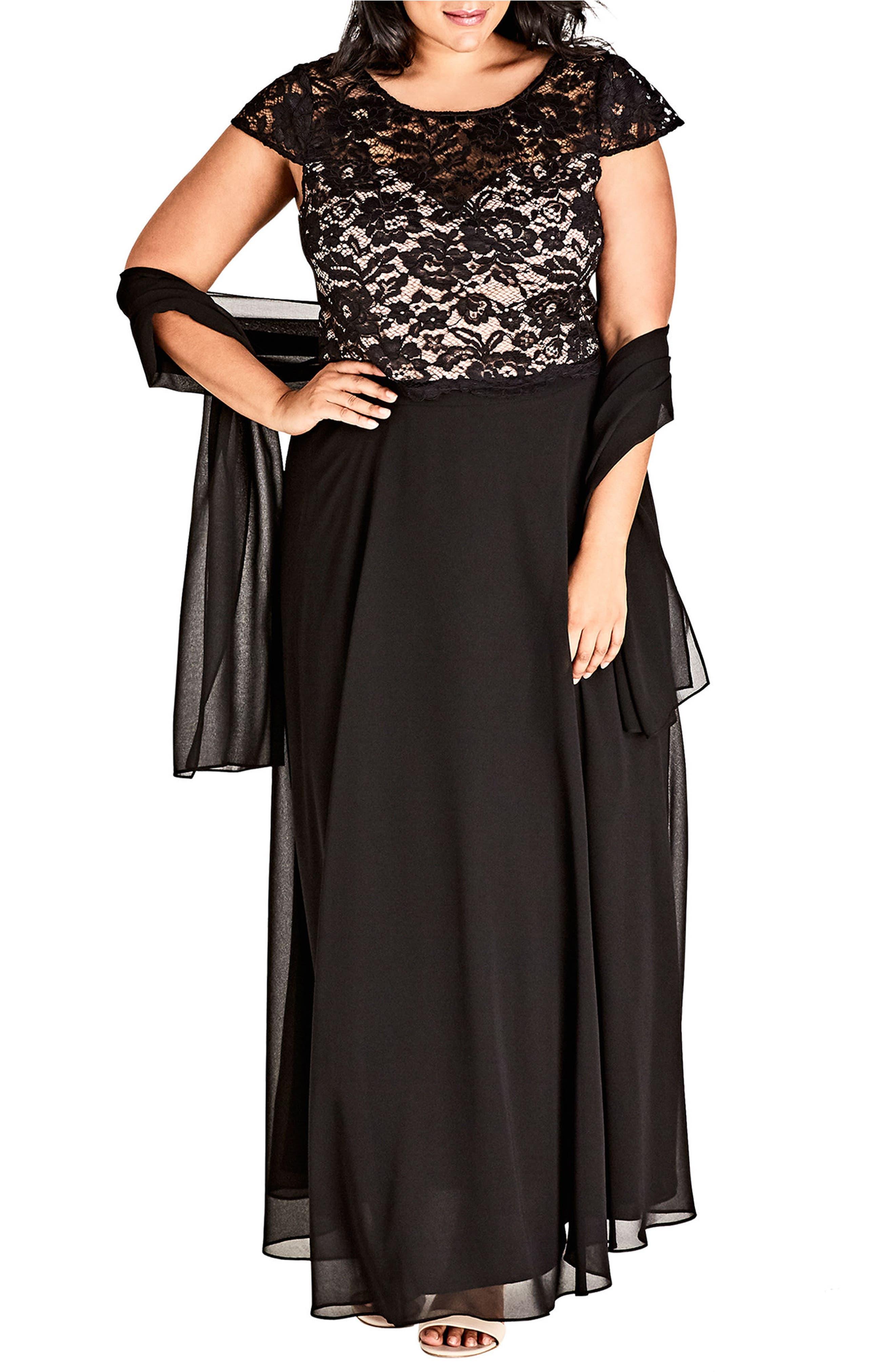 Alternate Image 3  - City Chic Elegance Maxi Dress Set (Plus Size)