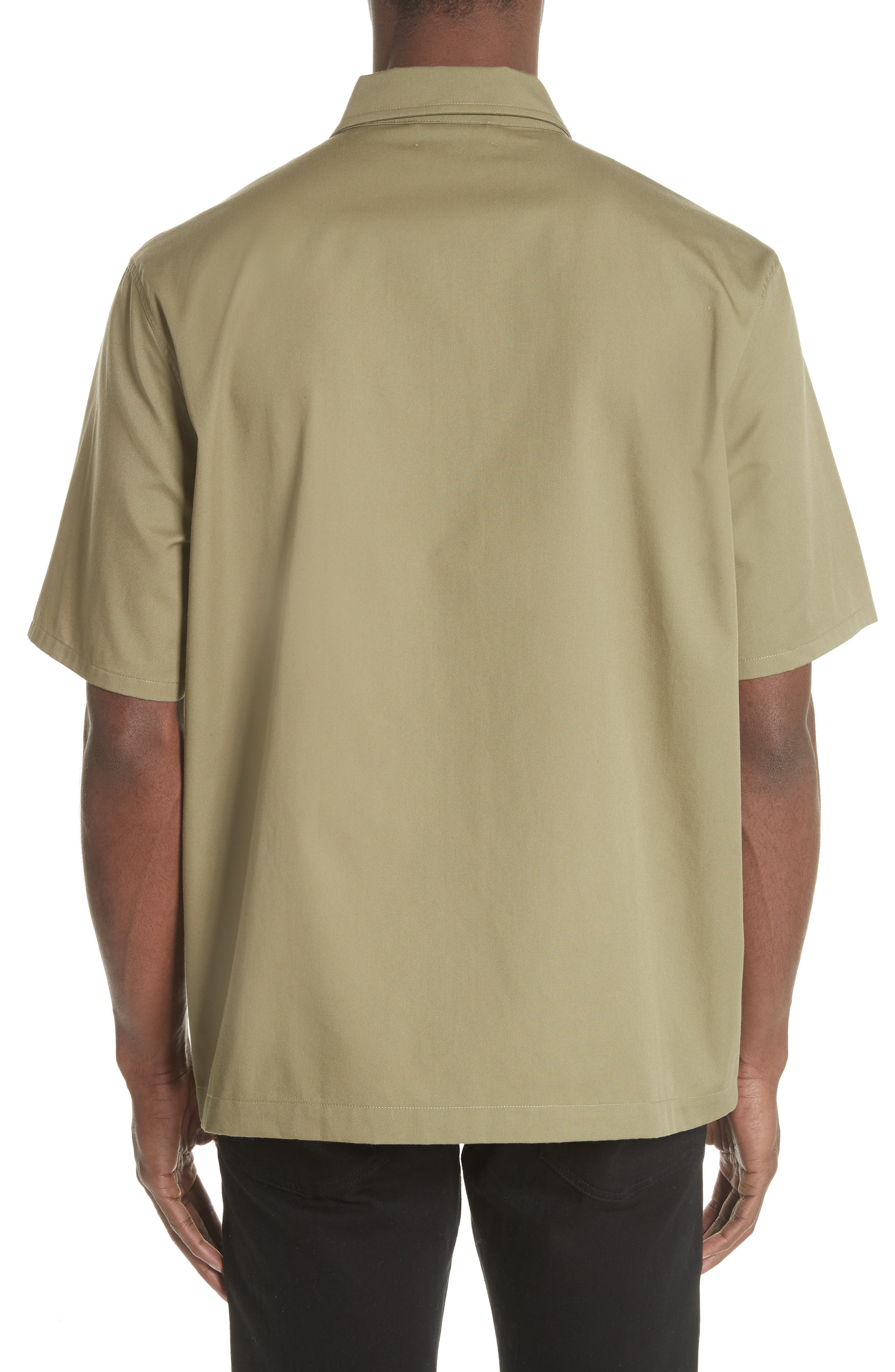 Double Pocket Woven Shirt,                             Alternate thumbnail 2, color,                             Olive