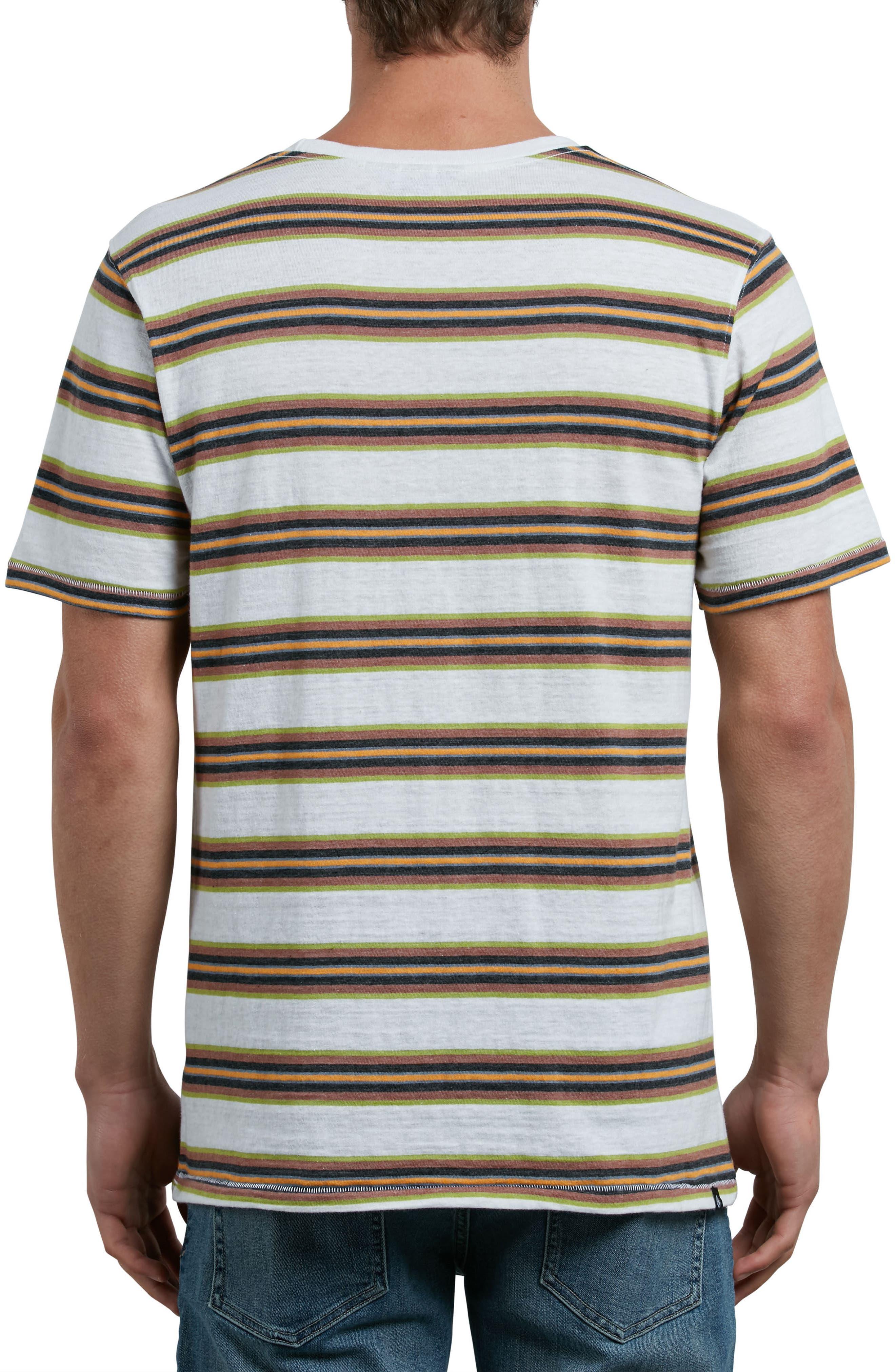 Belfast Stripe Pocket T-Shirt,                             Alternate thumbnail 2, color,                             White