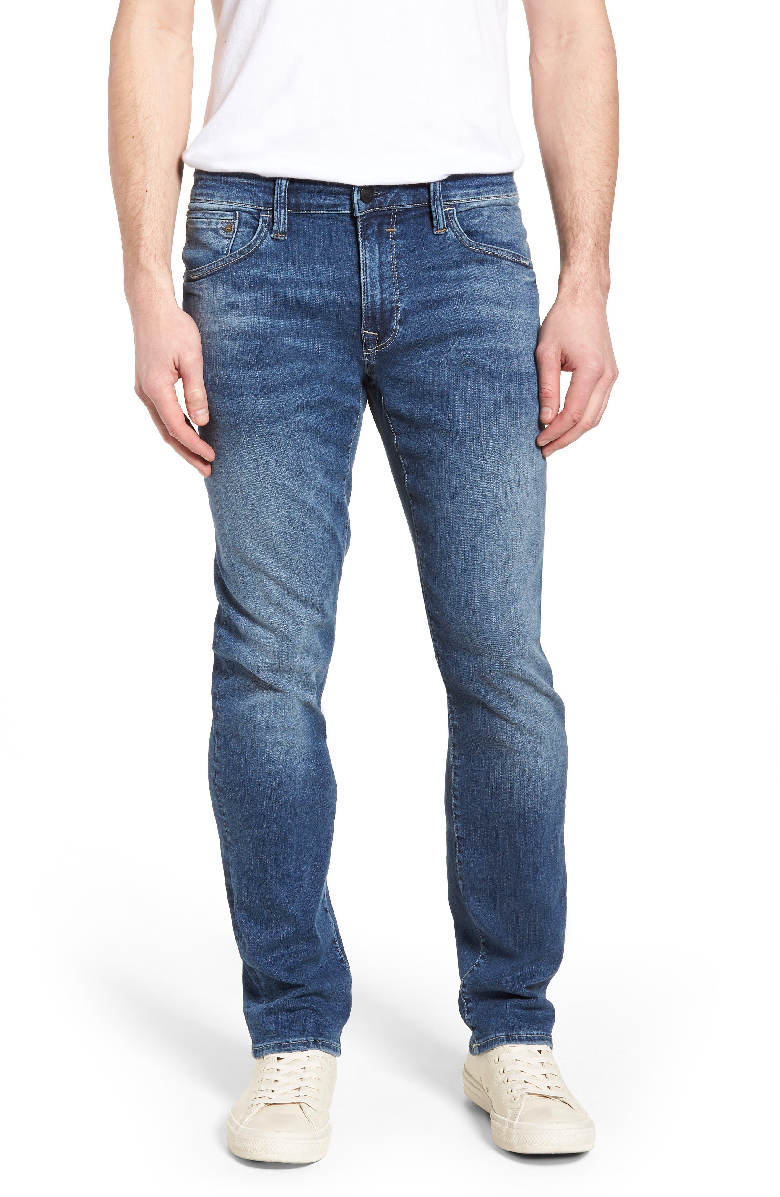 Zach Straight Leg Jeans,                             Main thumbnail 1, color,                             Indigo Cashmere