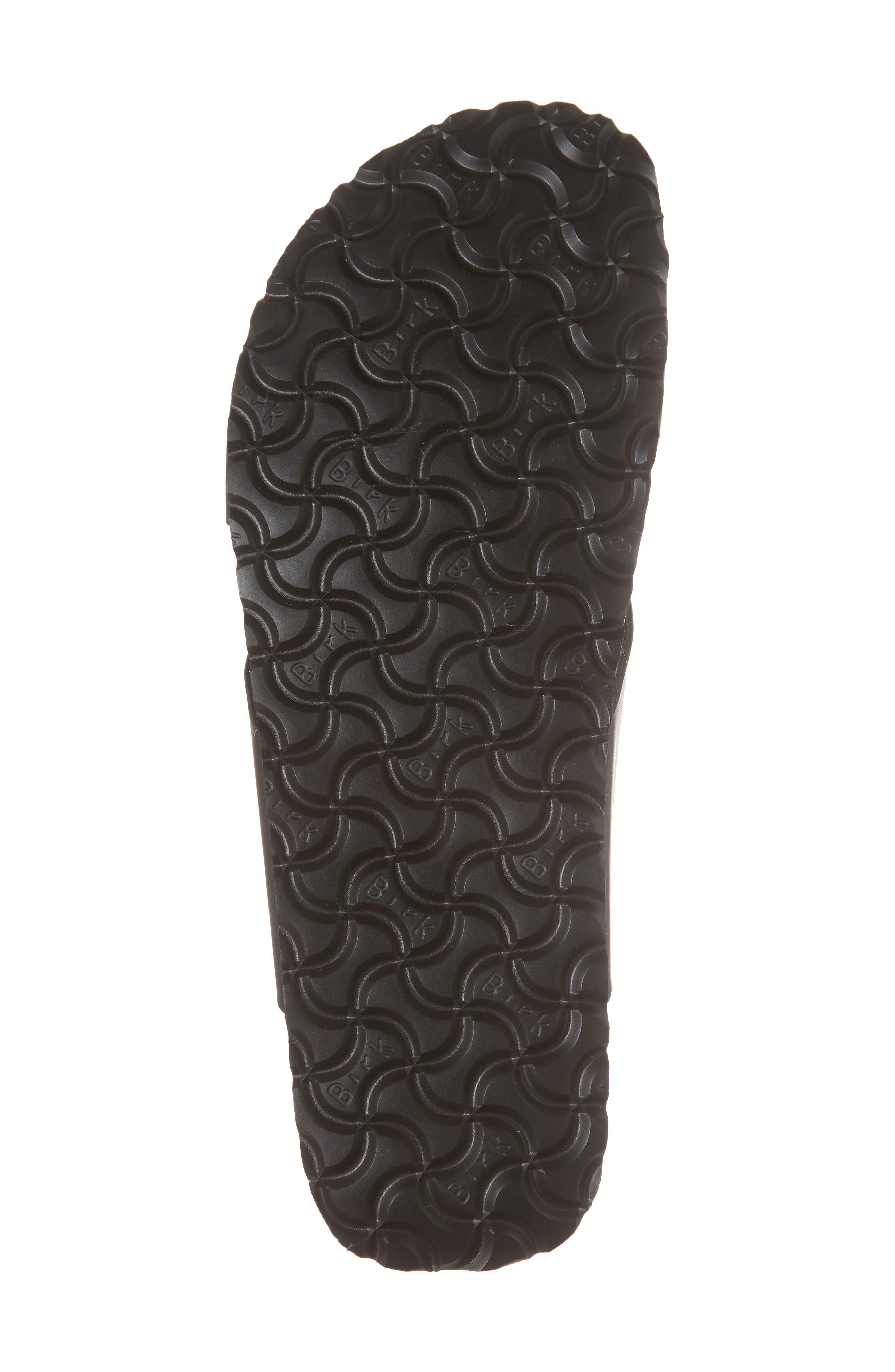 Papillio by Birkenstock Daytona Hex Slide Sandal,                             Alternate thumbnail 6, color,                             Ornaments Black Leather