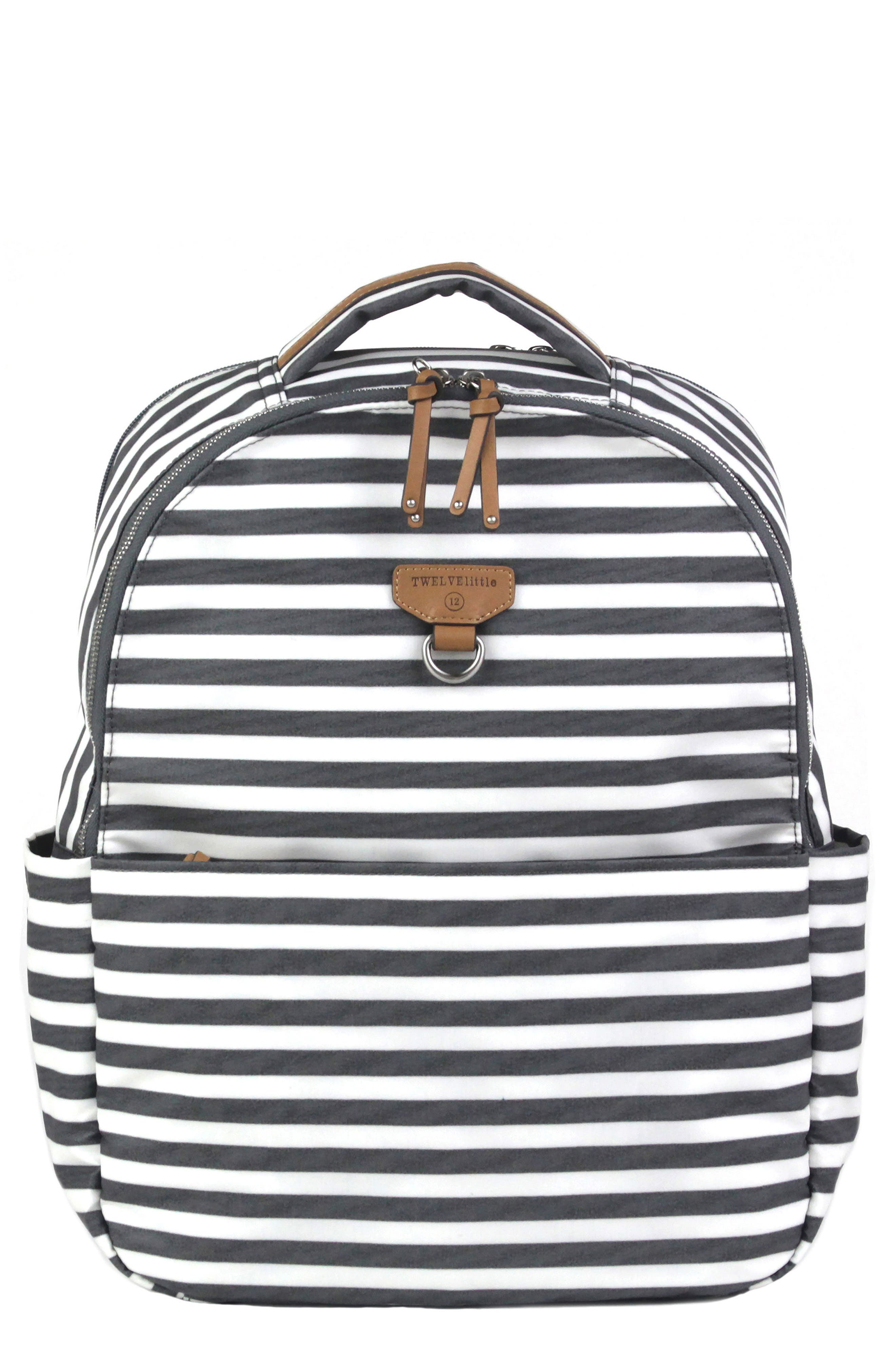 On-the-Go Water Resistant Diaper Backpack,                             Main thumbnail 1, color,                             Stripe