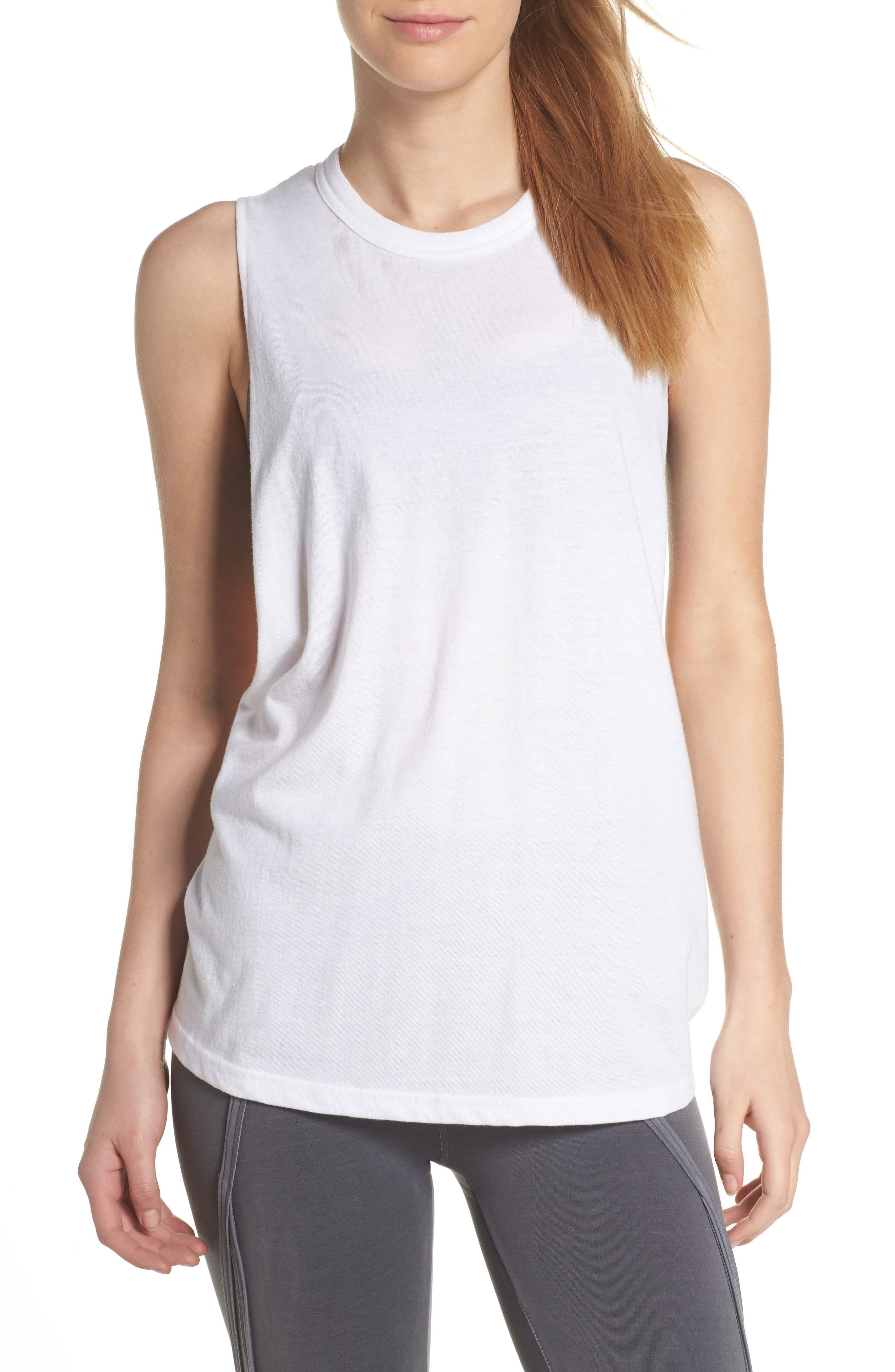 Free People No Sweat Tank,                         Main,                         color, White