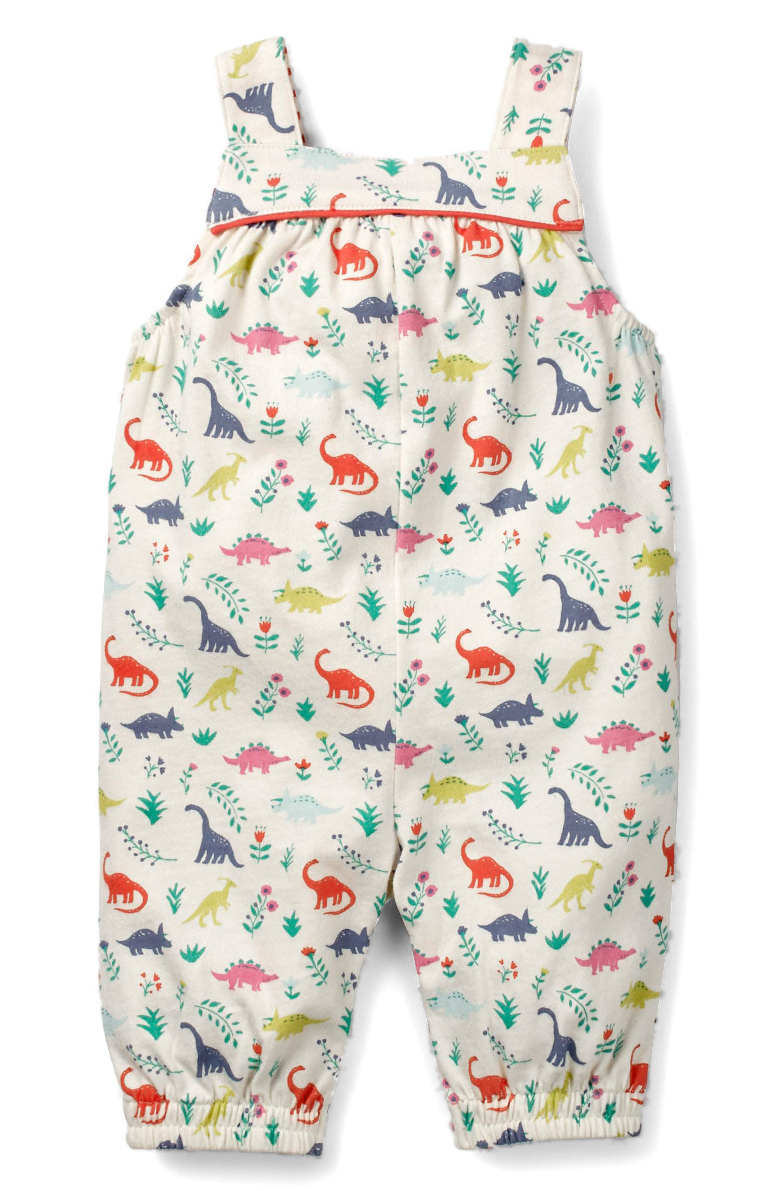 Jersey Overalls,                             Alternate thumbnail 2, color,                             Multi Dino Floral