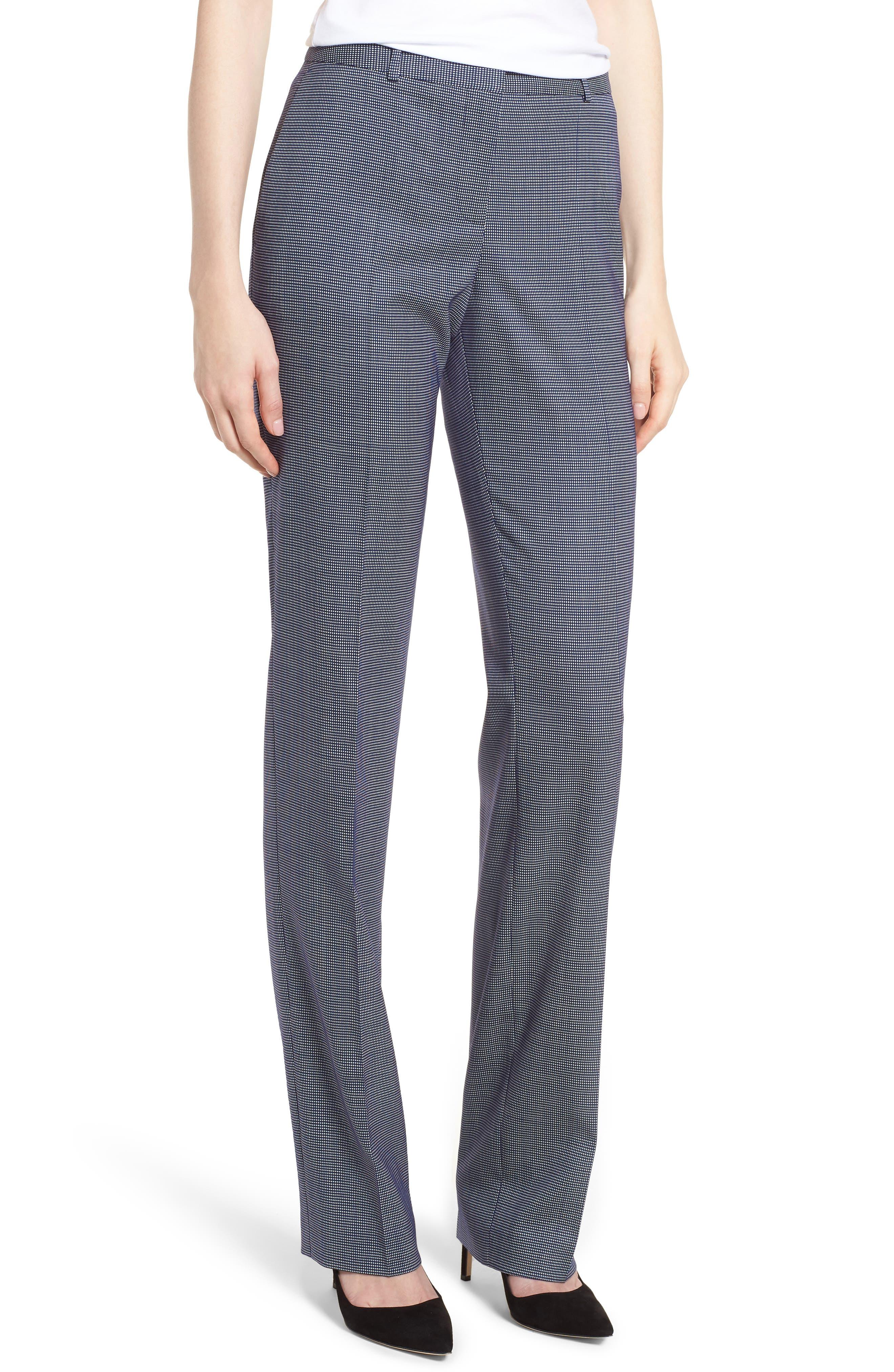 Tamea Minidessin Suit Pants,                             Main thumbnail 1, color,                             Blue Fantasy