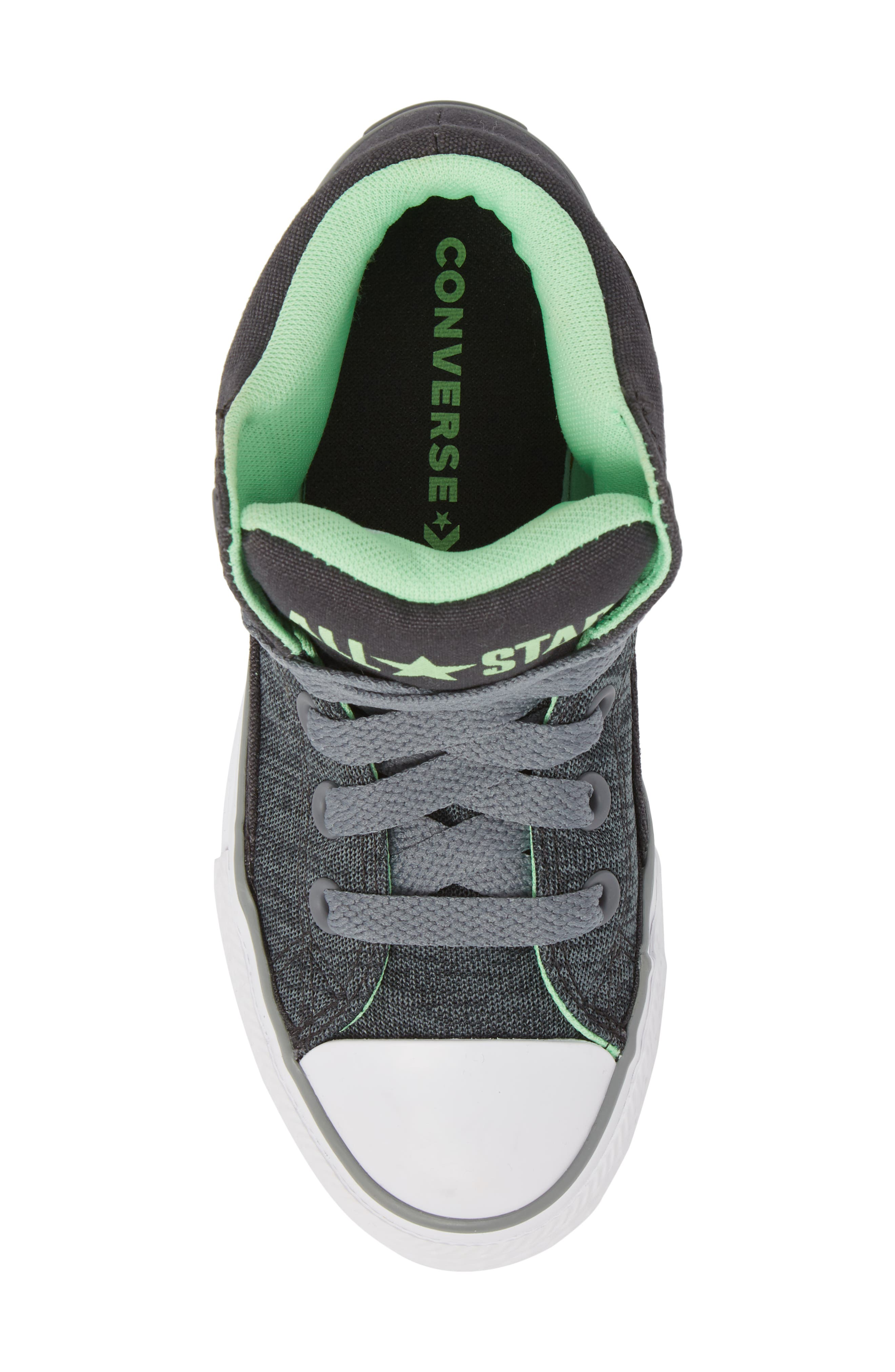 Chuck Taylor<sup>®</sup> All Star<sup>®</sup> High Street High Top Sneaker,                             Alternate thumbnail 5, color,                             Almost Black