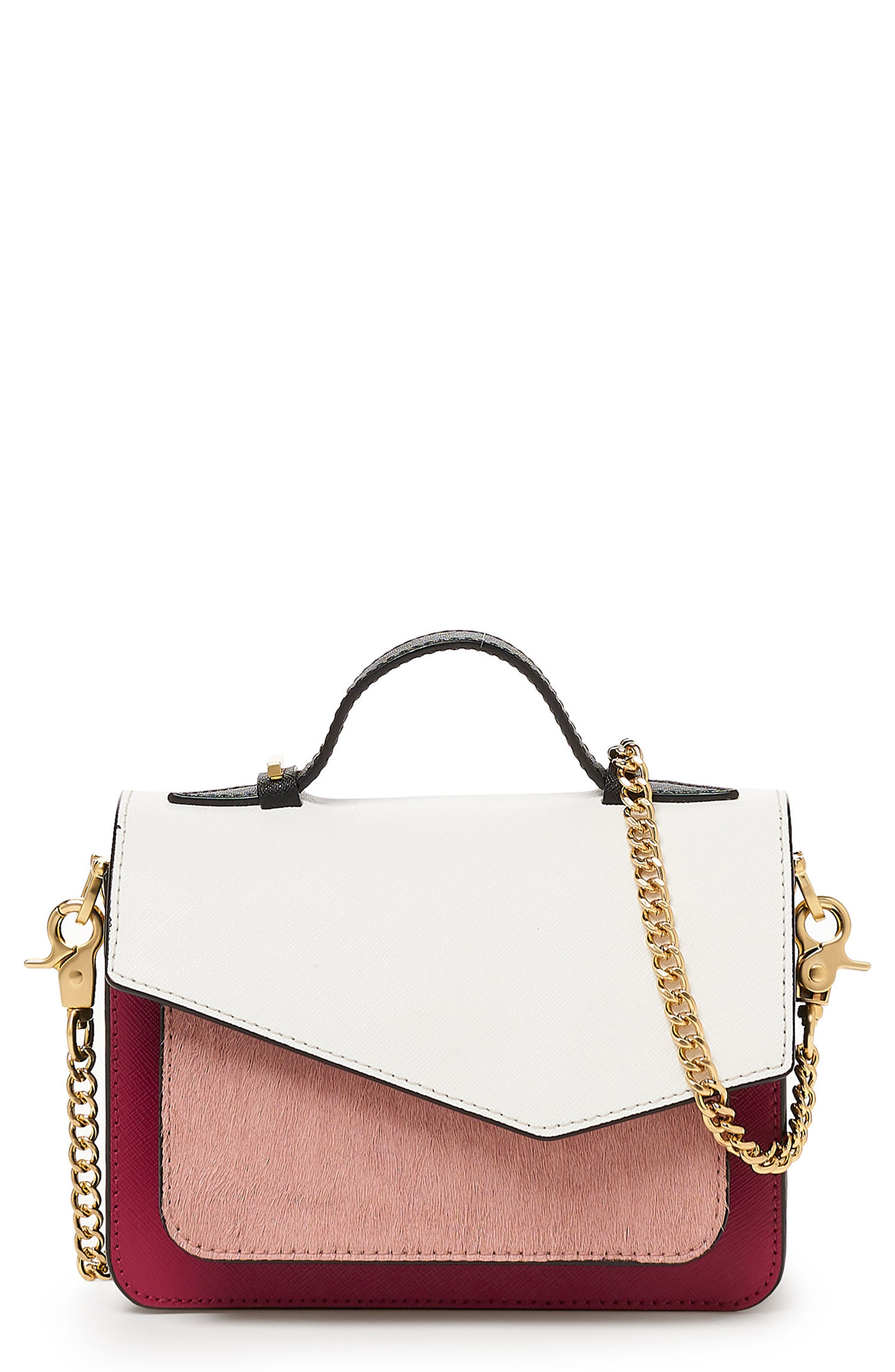 MINI COBBLE HILL CALFSKIN LEATHER CROSSBODY BAG - PINK
