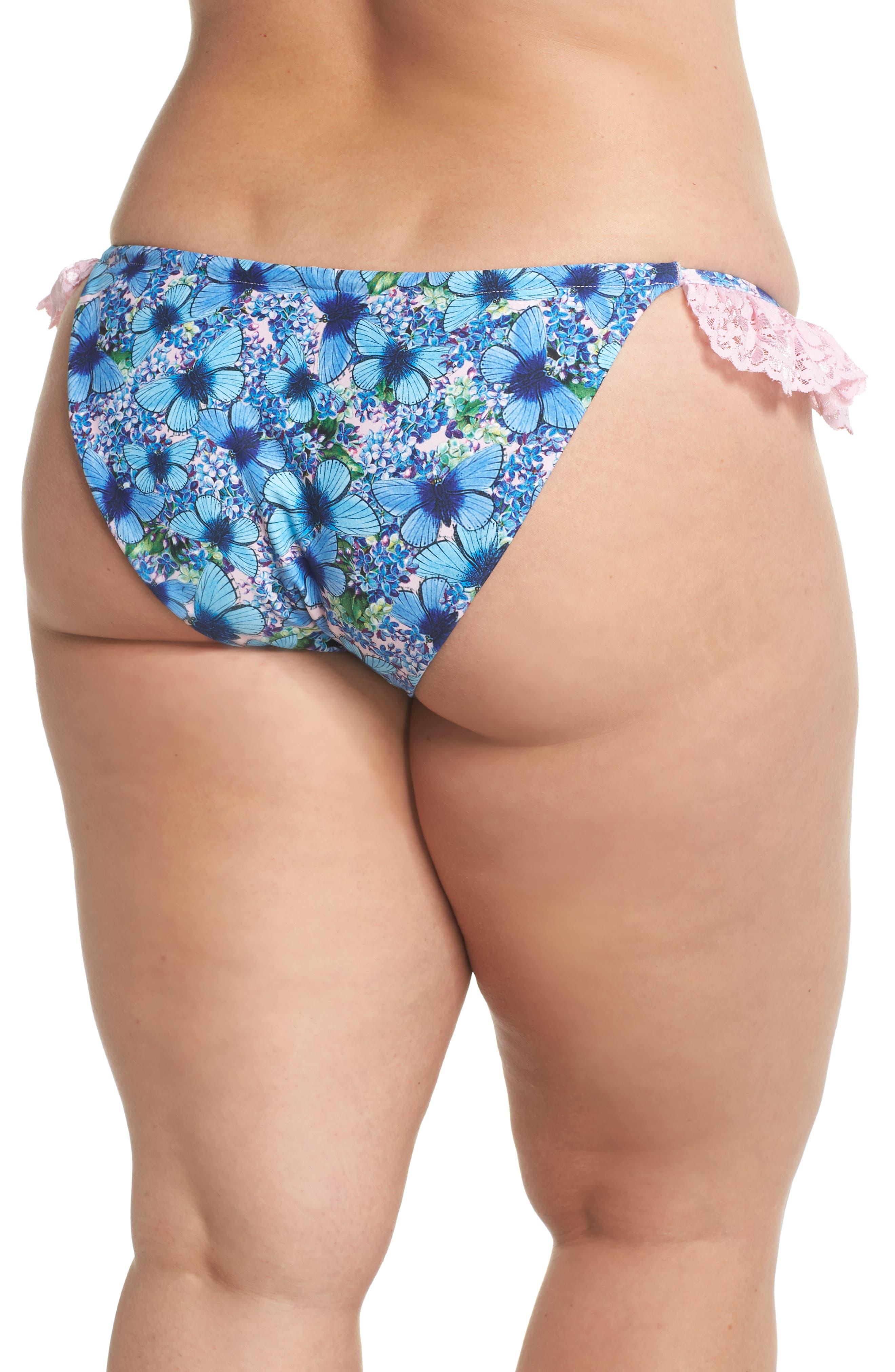 Ruffle Bikini Bottoms,                             Alternate thumbnail 2, color,                             Butterfly
