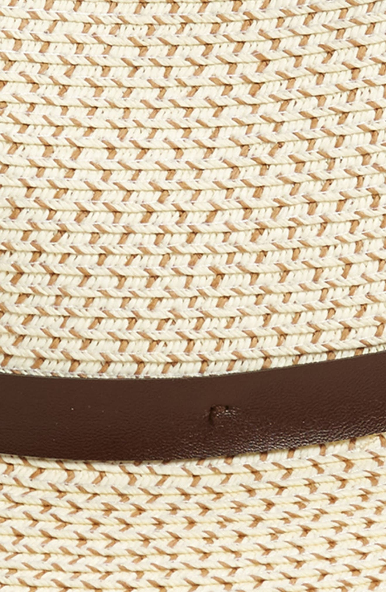 Band Straw Hat,                             Alternate thumbnail 2, color,                             Ivory