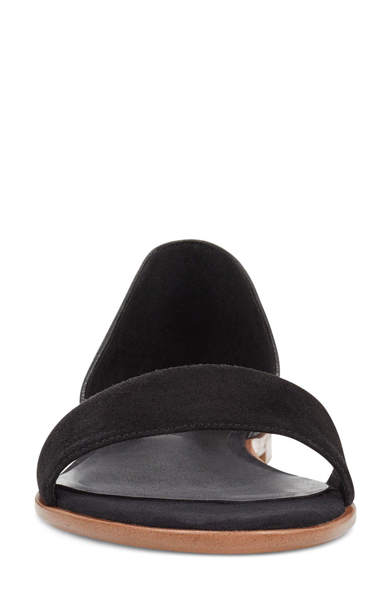 Maris Sandal,                             Alternate thumbnail 4, color,                             Black/ Black Leather