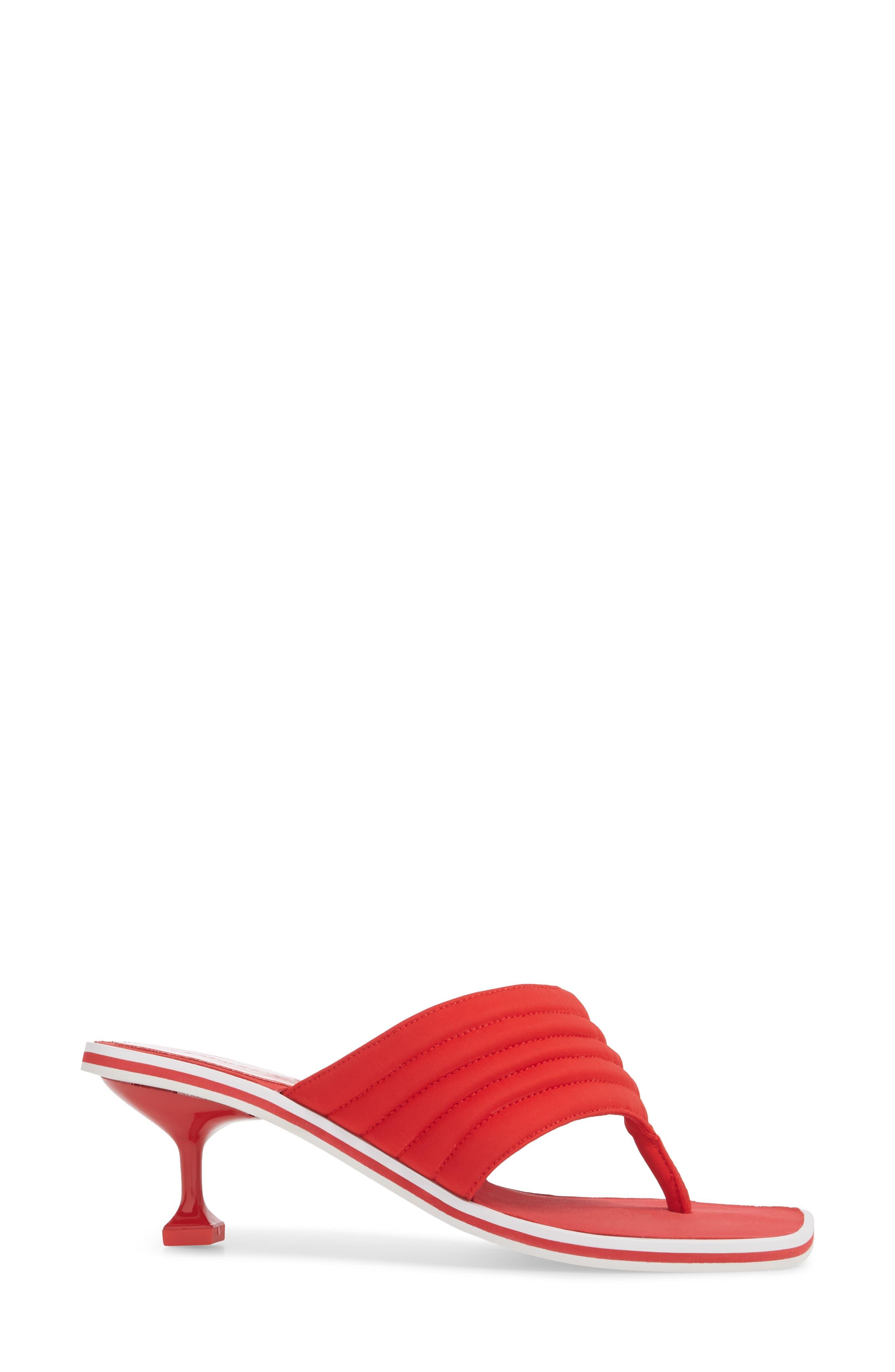 Overtime Sandal,                             Alternate thumbnail 3, color,                             Red Neorprene