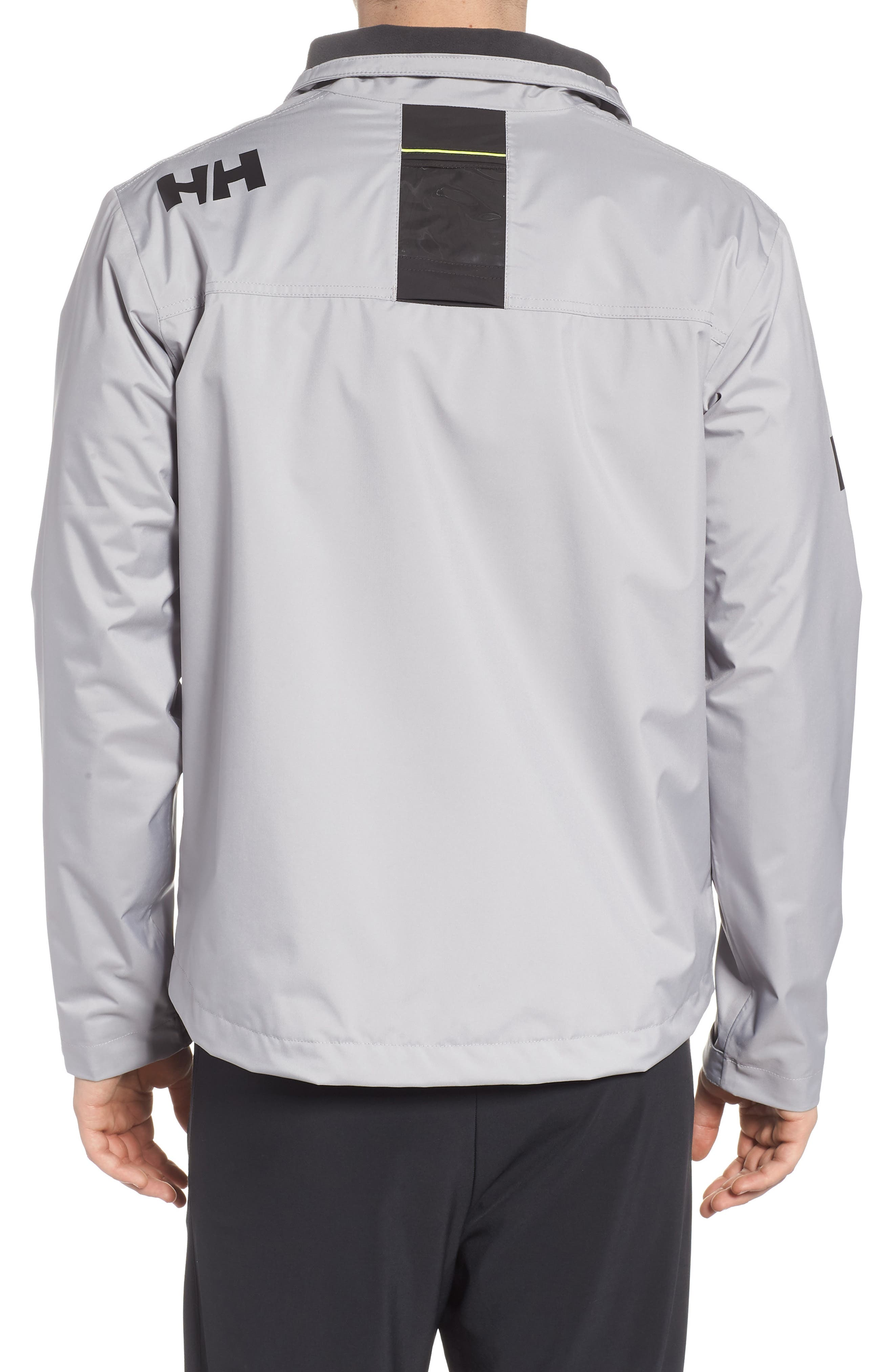 'Crew' Waterproof & Windproof Jacket,                             Alternate thumbnail 2, color,                             Silver Grey