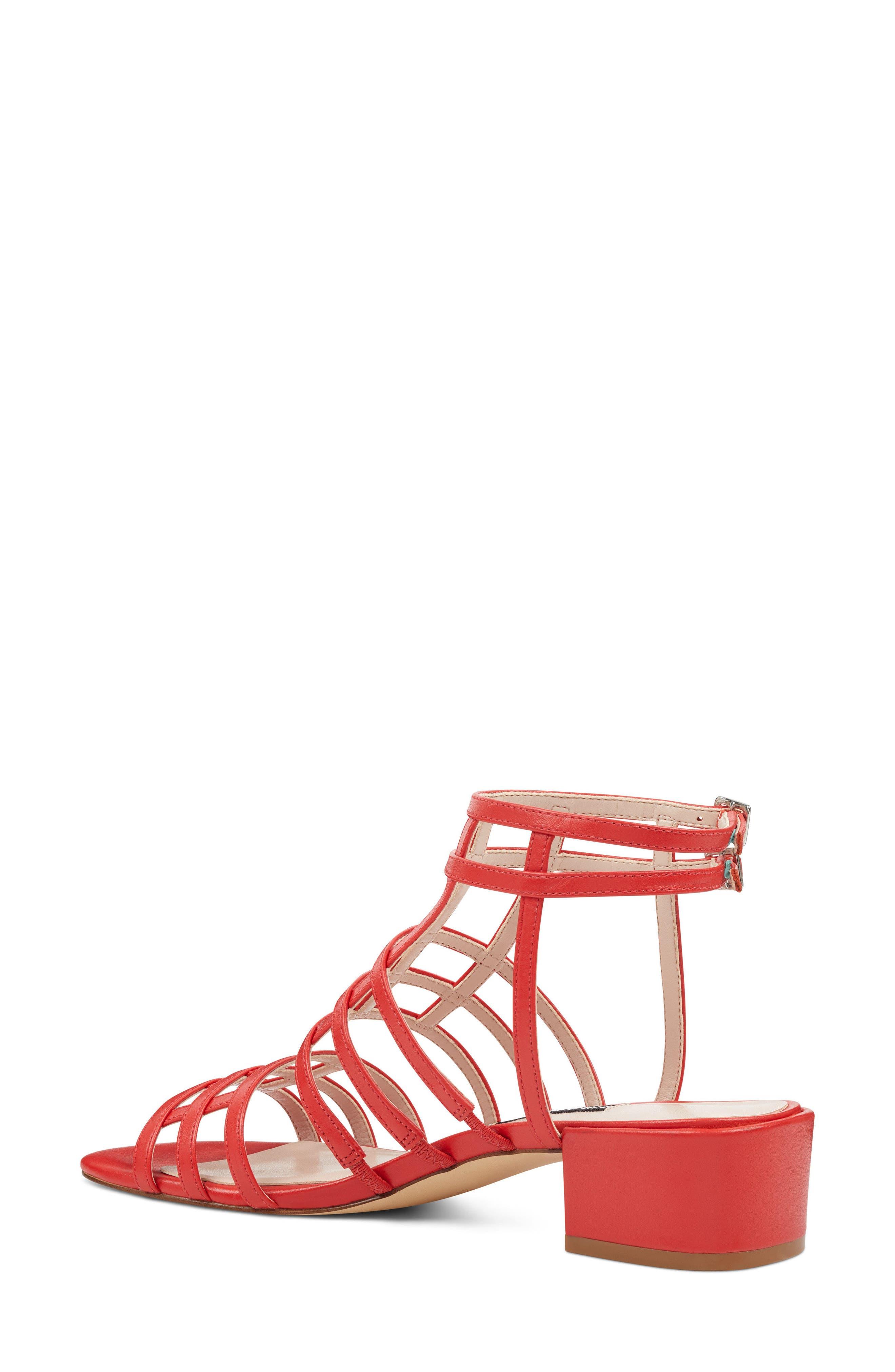 Xerxes Sandal,                             Alternate thumbnail 2, color,                             Red Leather
