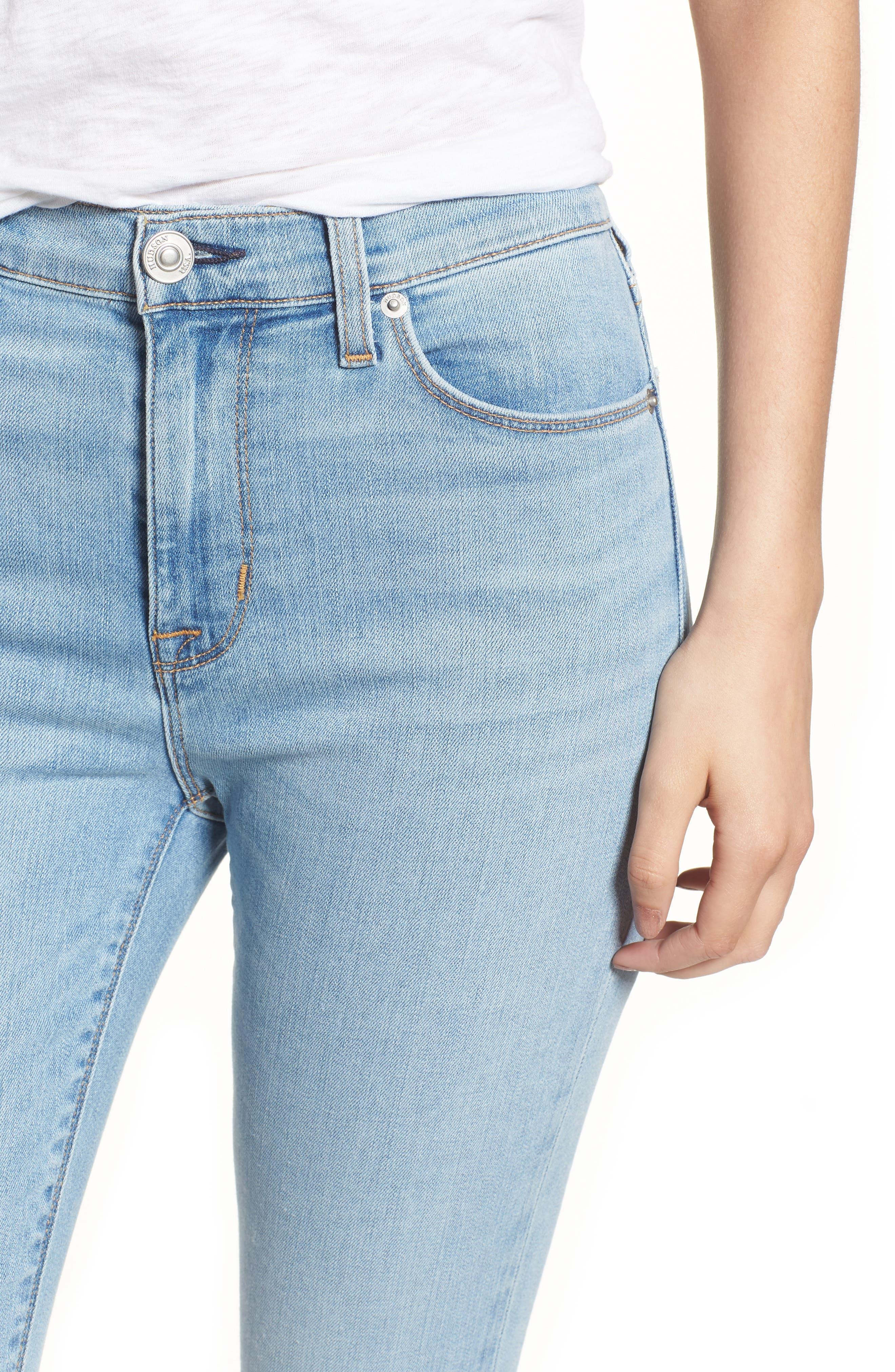 Hudson Barbara High Waist Ankle Skinny Jeans,                             Alternate thumbnail 4, color,                             Gemini