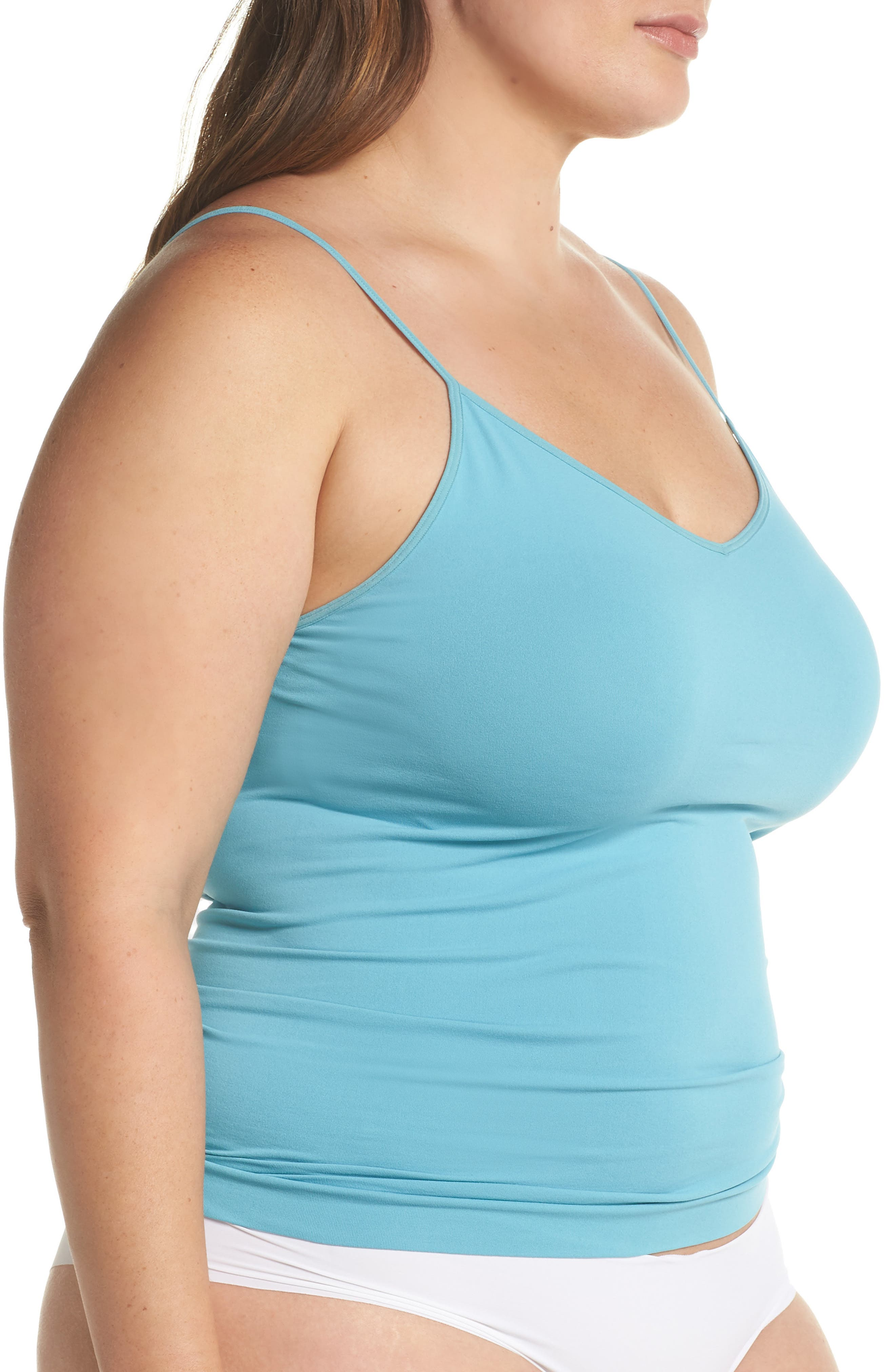 Seamless Two-Way Camisole,                             Alternate thumbnail 3, color,                             Teal Sicily