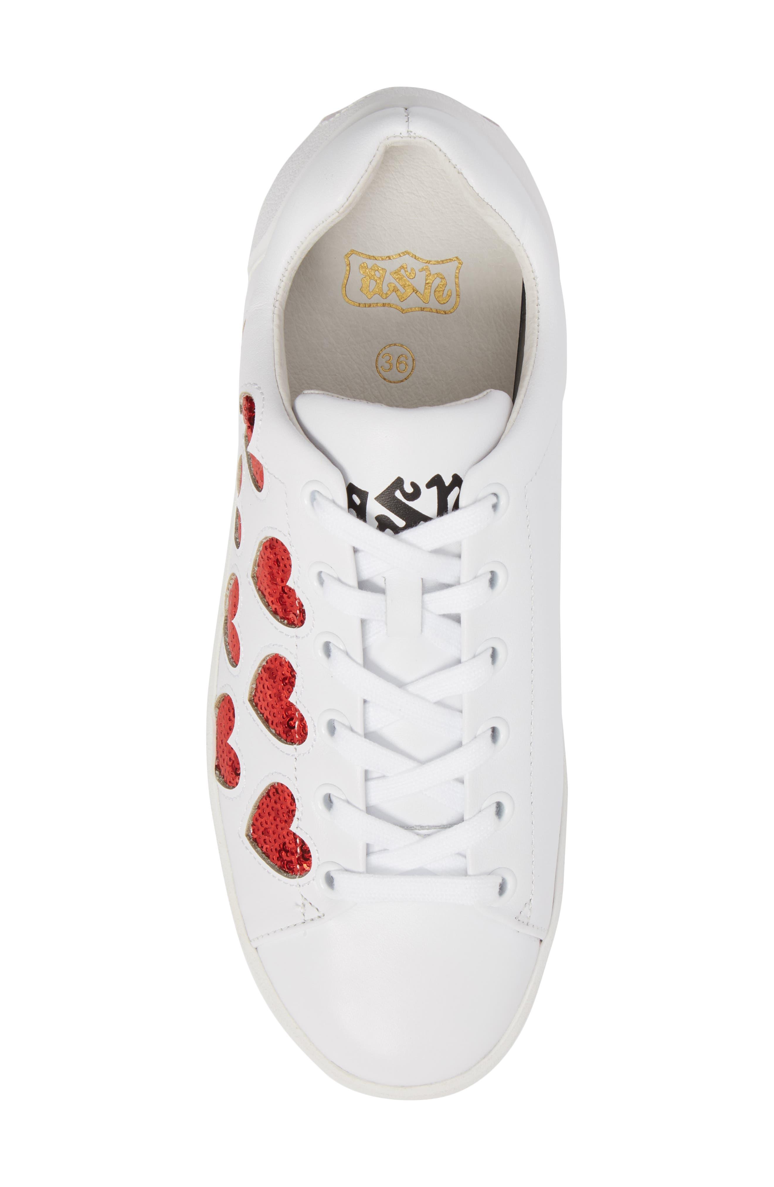 Nikita Sneaker,                             Alternate thumbnail 5, color,                             White/ Red