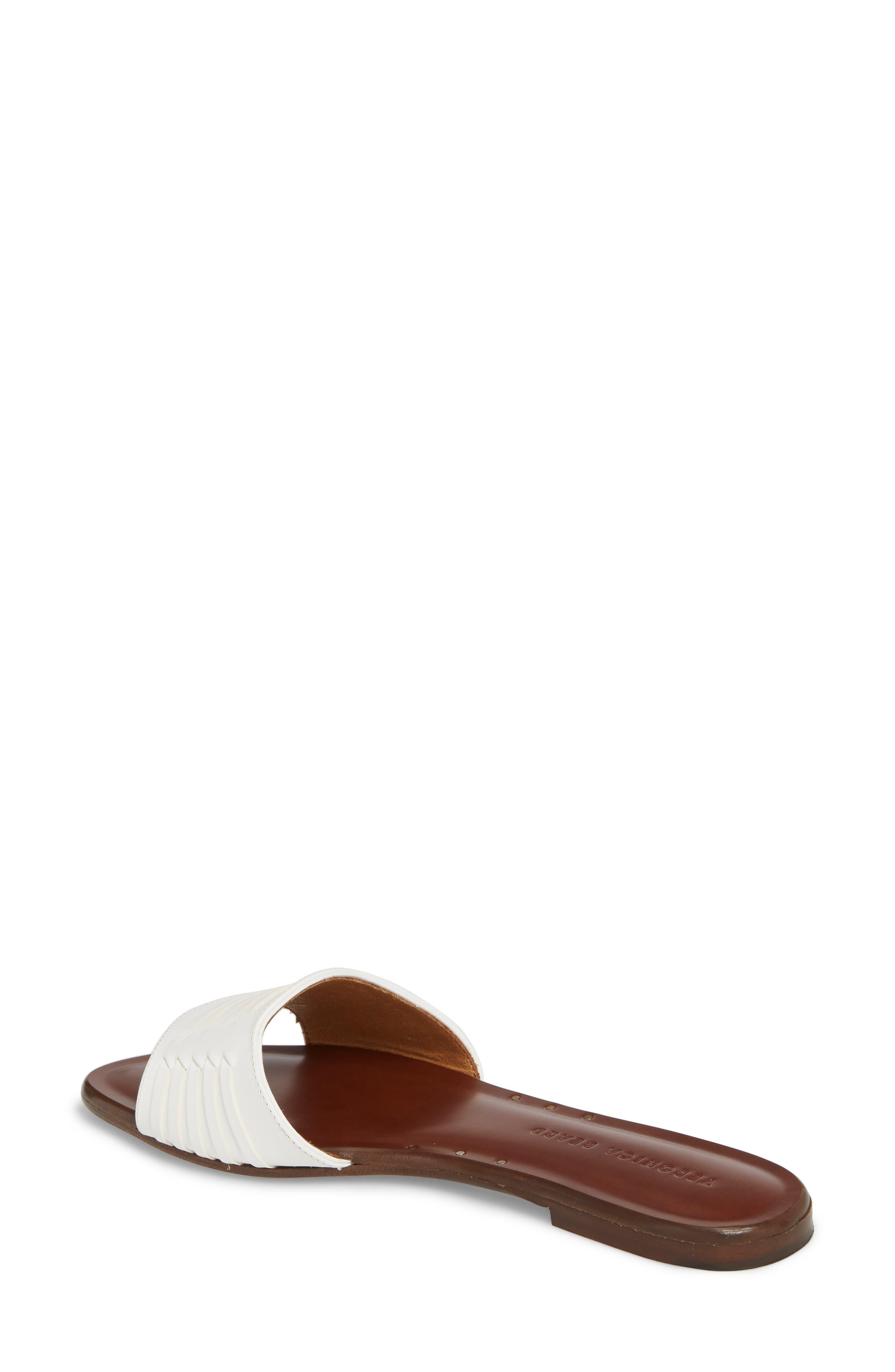 Faven Woven Slide Sandal,                             Alternate thumbnail 2, color,                             White