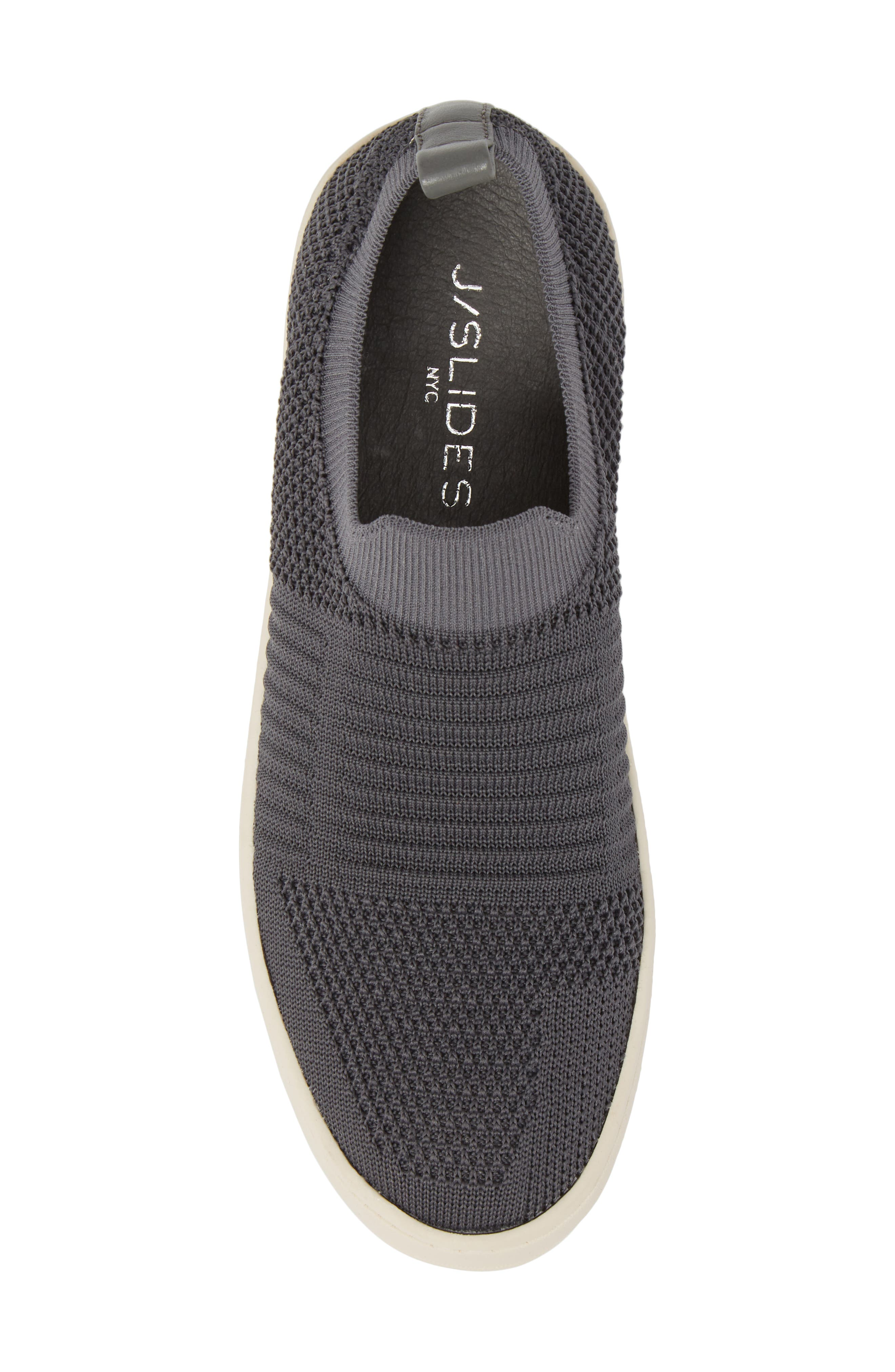 Hilo Platform Slip-On Sneaker,                             Alternate thumbnail 5, color,                             Grey Fabric